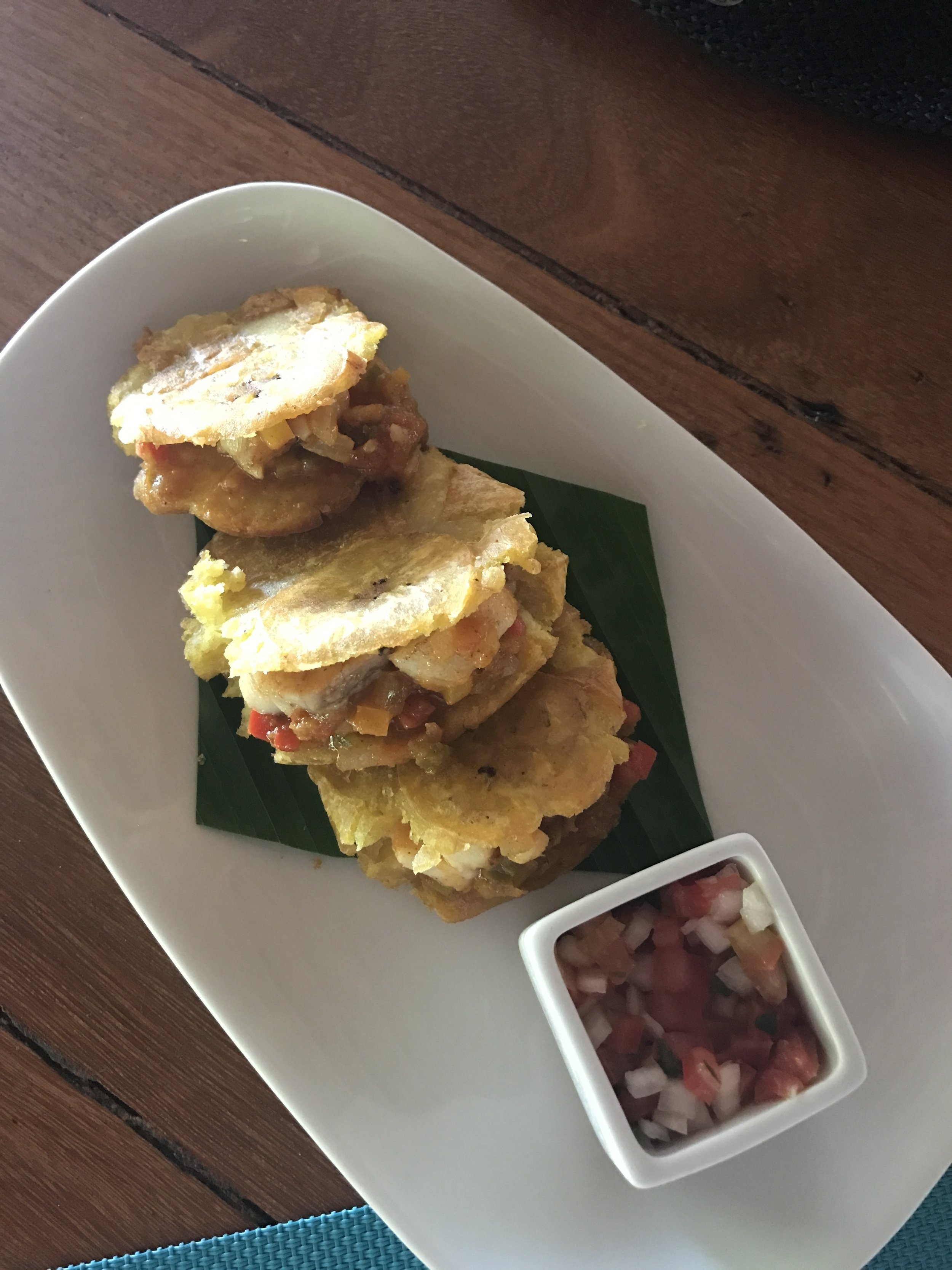 stuffed tostones with fish
