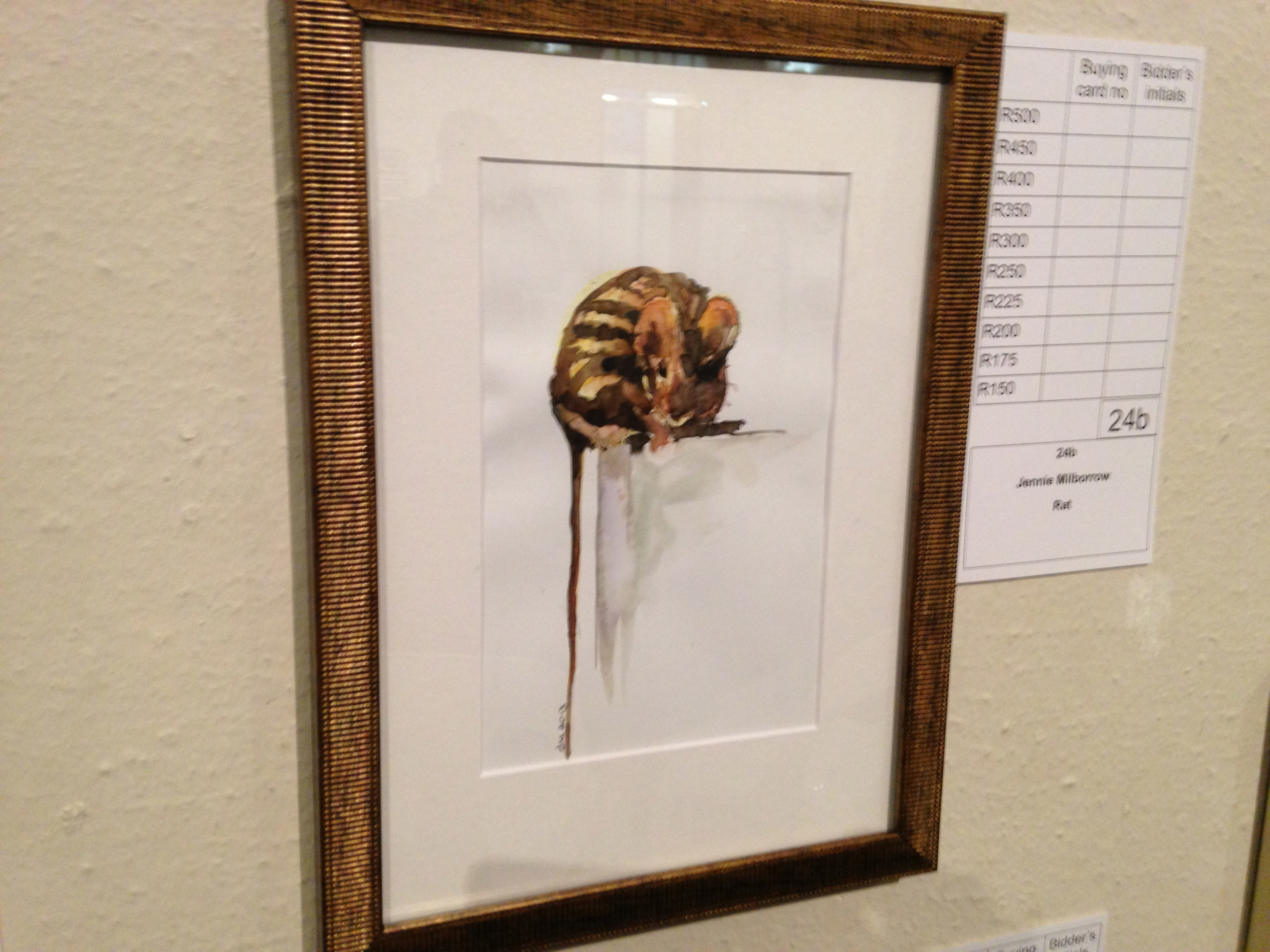 A single artwork with the bidding form.