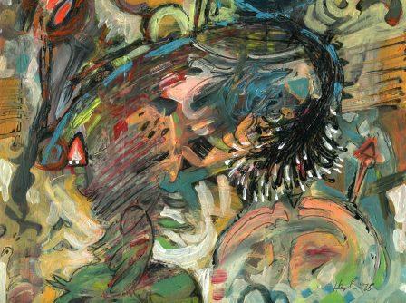 8a Salim, Hussein-Growth 1, Acrylic on board.jpg