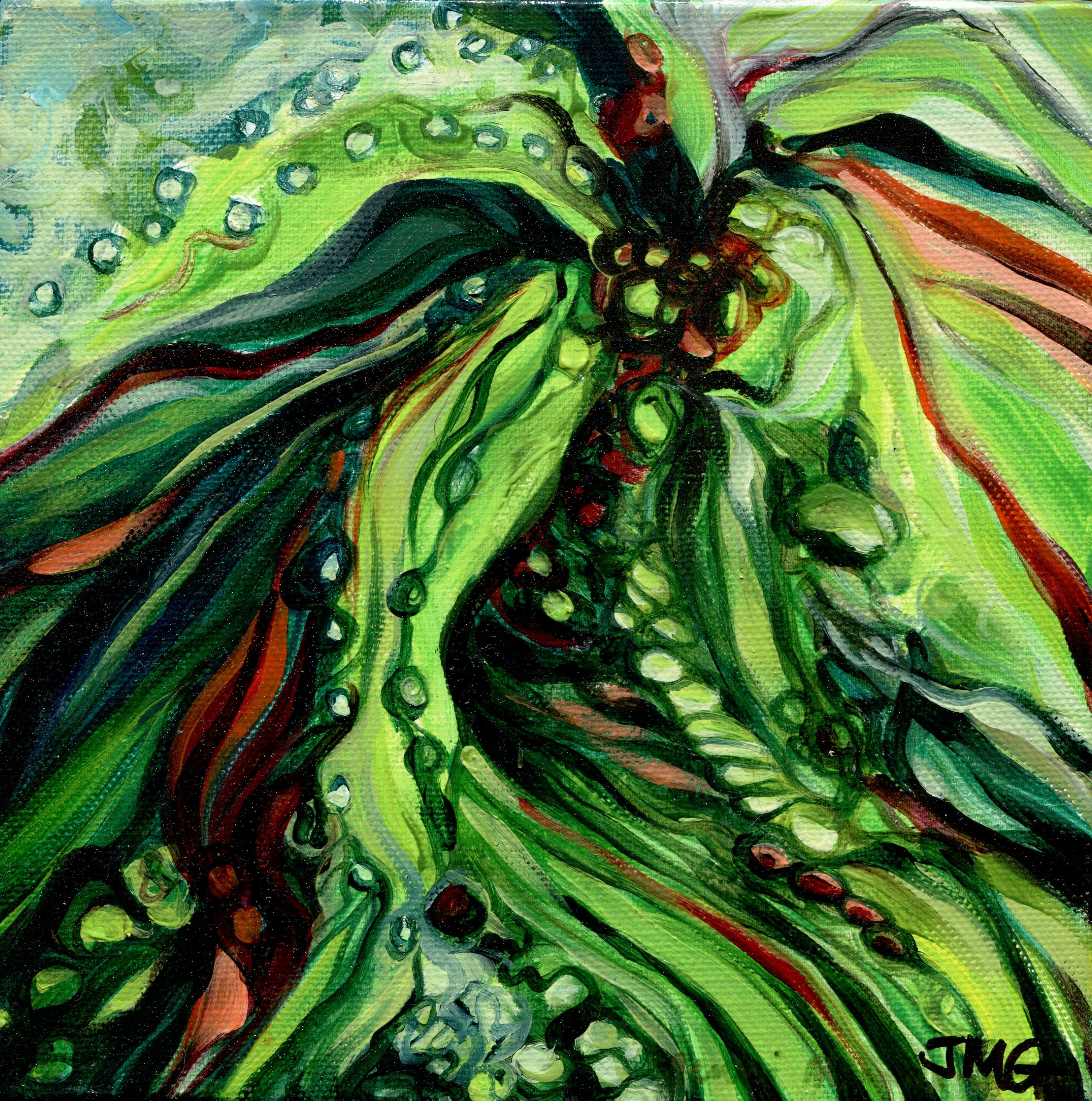 74C JENNI MAURICE-GREEN, ALOE, OIL ON CANVAS
