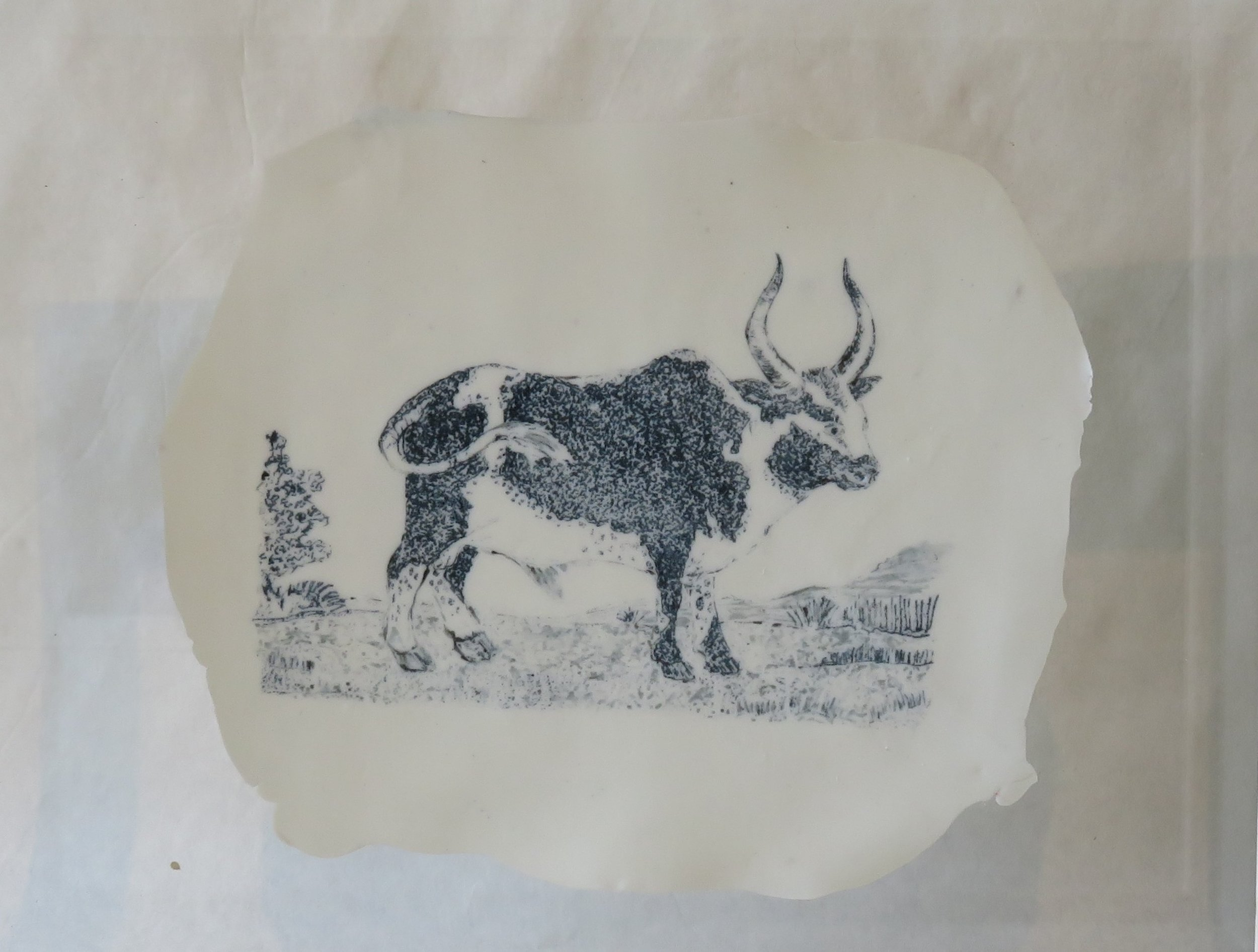 102A MICHELLE RALL, GORDON EXPEDITION SERIES CIRCA 1777, NAMAQUA BULL, PORCELAIN