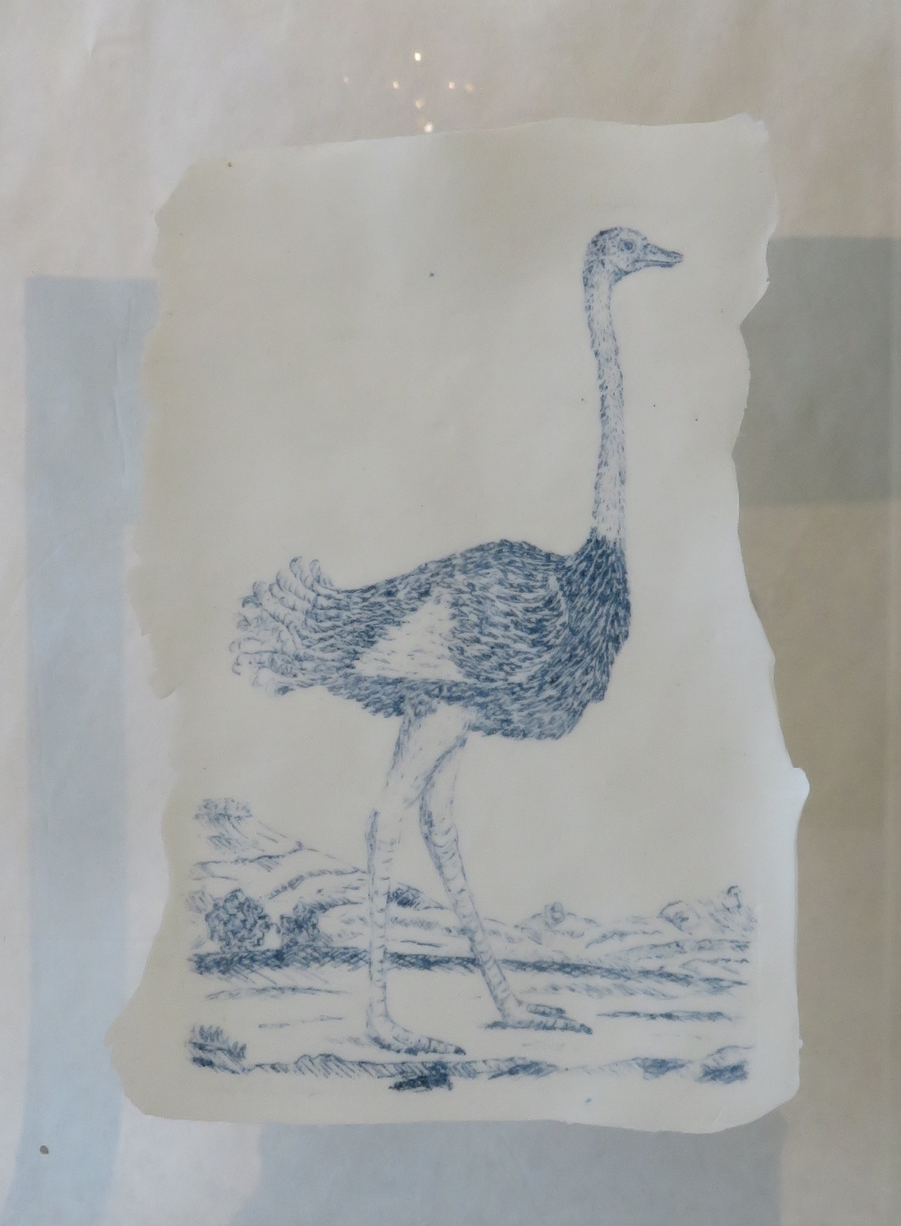 102B MICHELLE RALL, GORDON EXPEDITION SERIES CIRCA 1777, OSTRICH, PORCELAIN