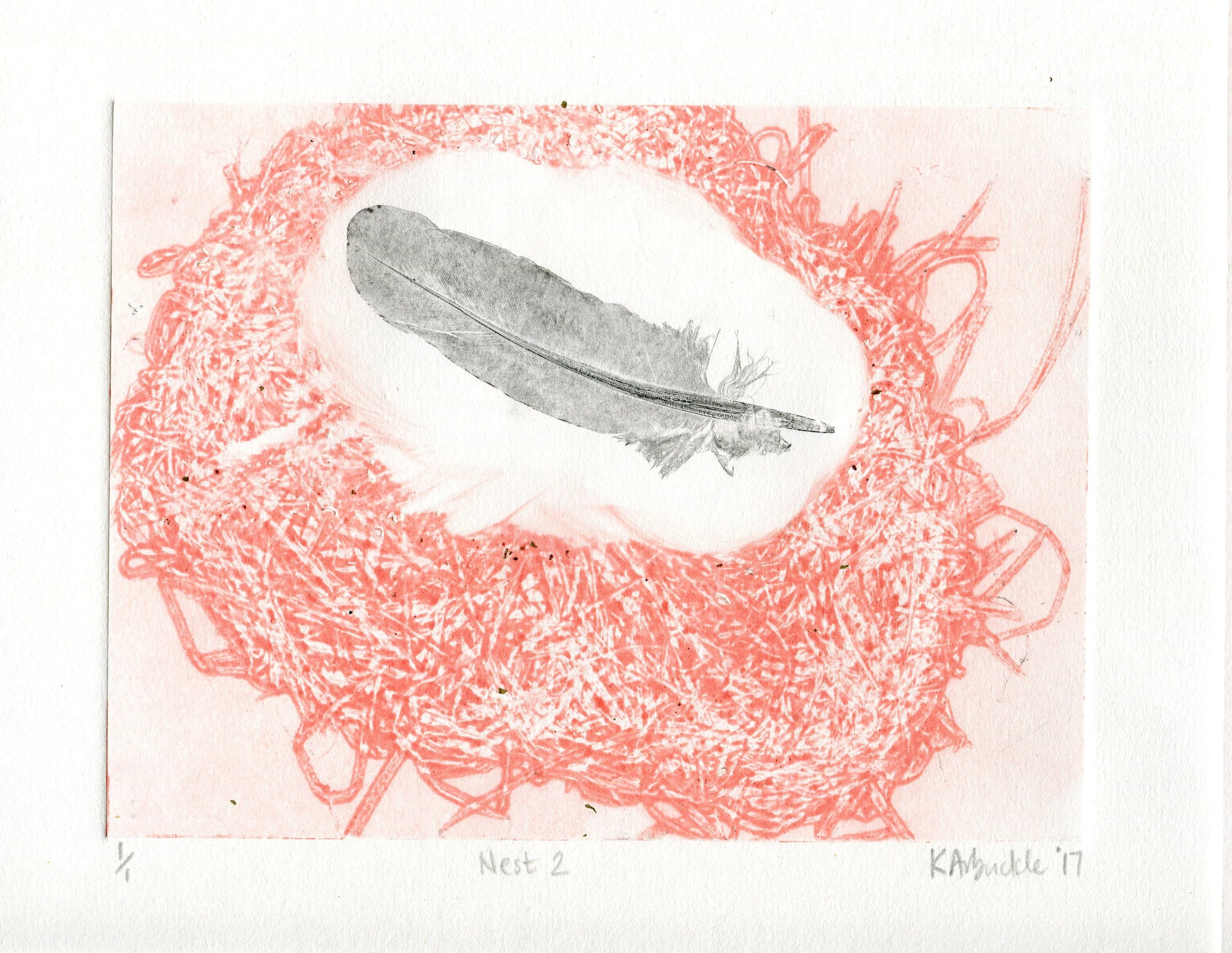 109B KATHY ARBUCKLE, NEST 2, MONOTYPE  ON PAPER