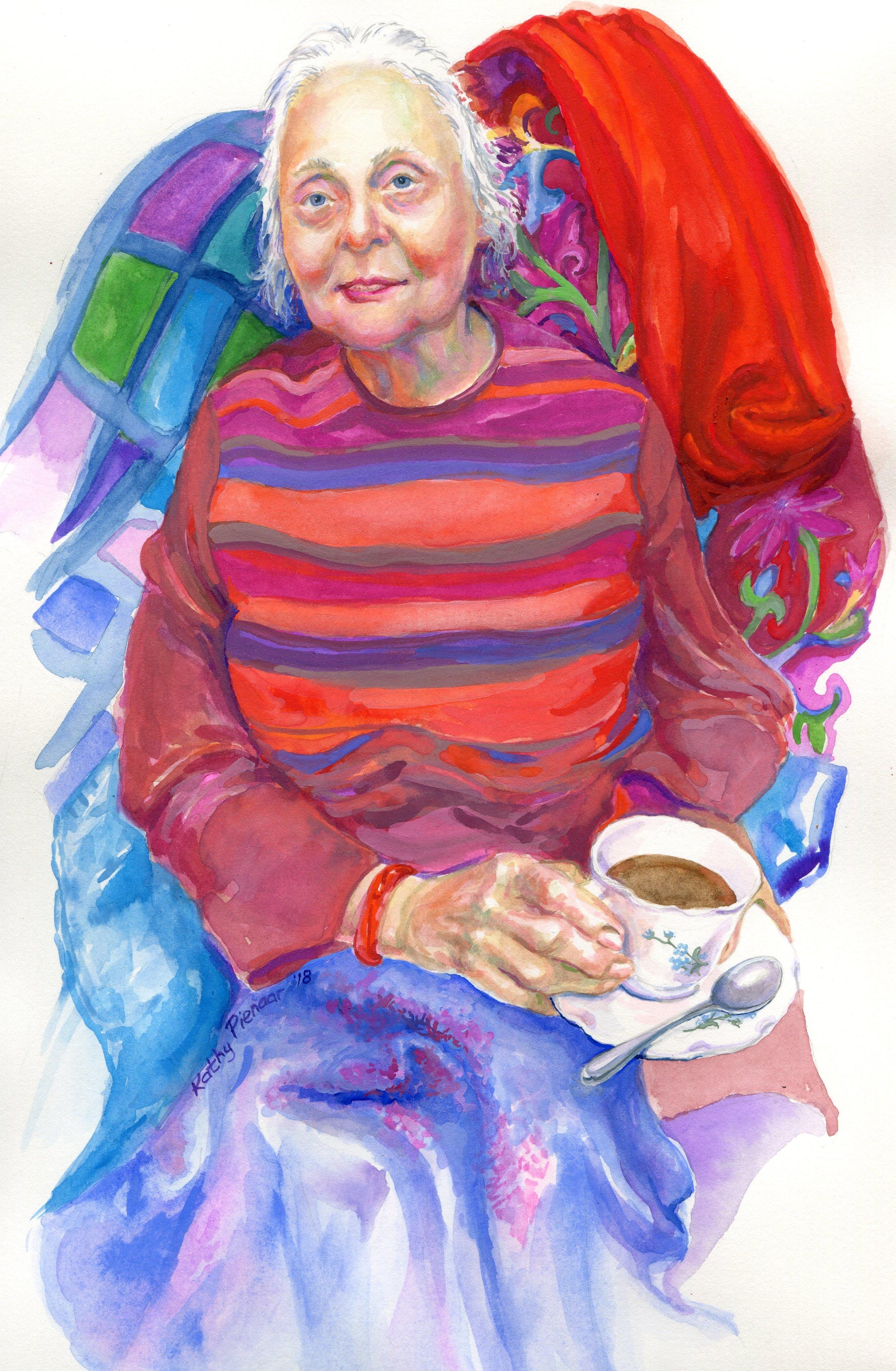 18A  Kathy Pienaar  Lorraine  gouache on paper