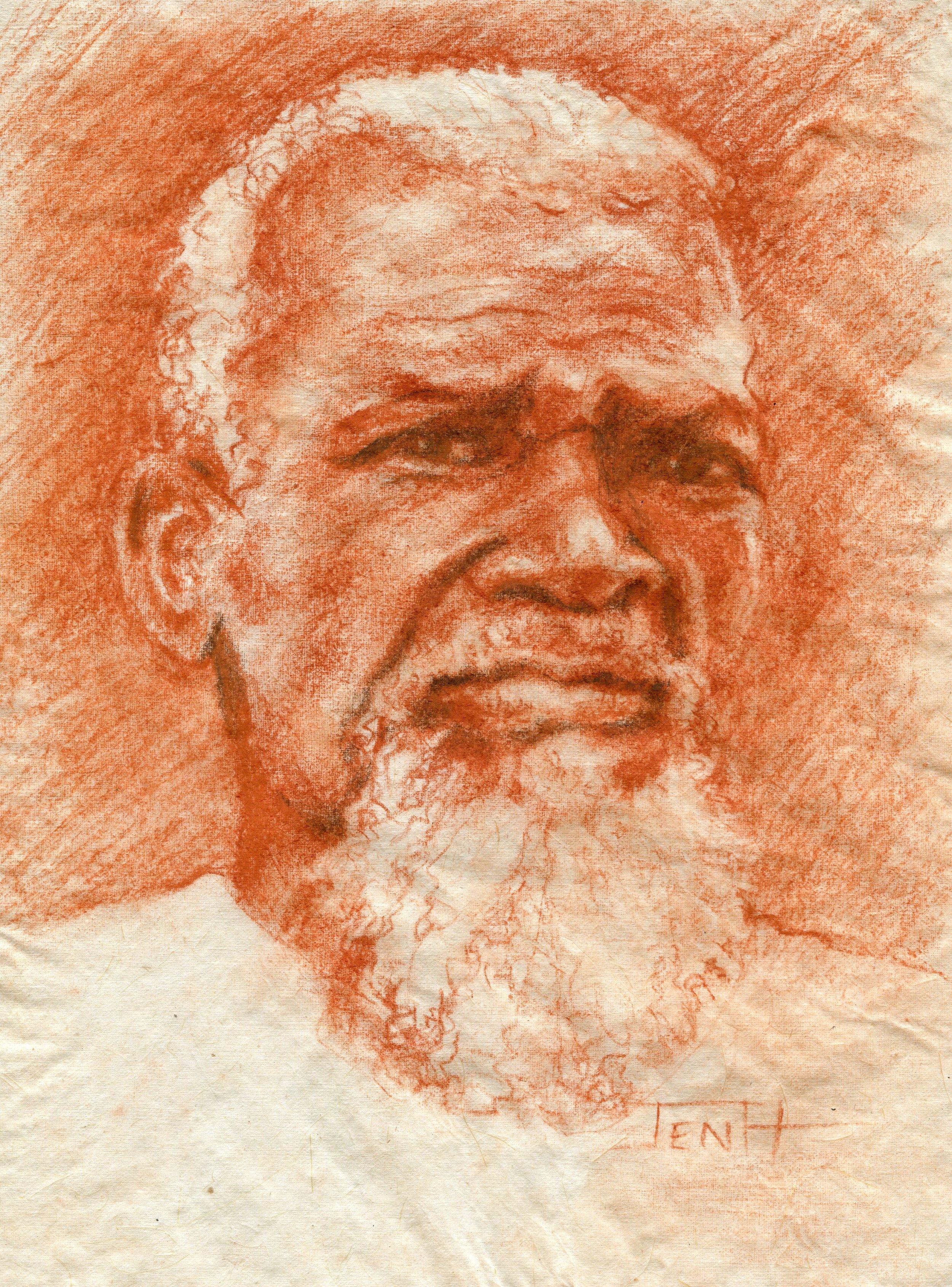 24c  Jenny Hallowes  Mkhulu  pastel on paper