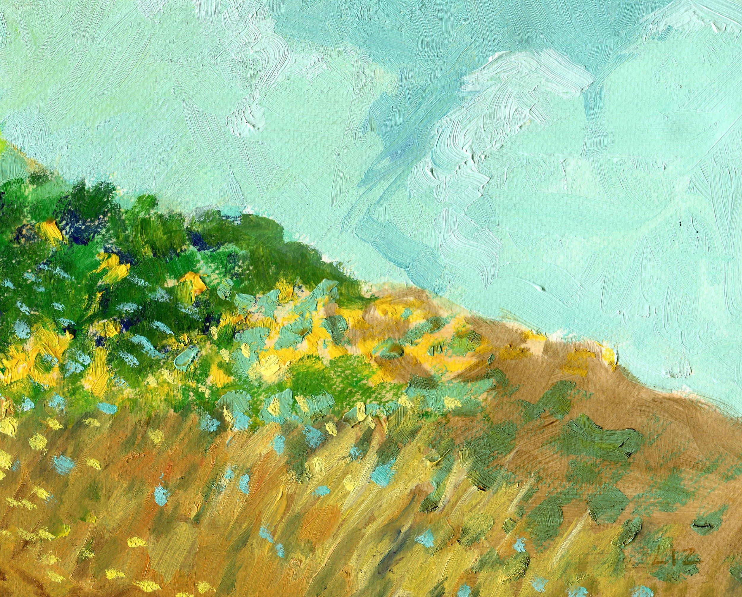 02b  Elizabeth Speight  Beachscape Sand Dune  oil on paper