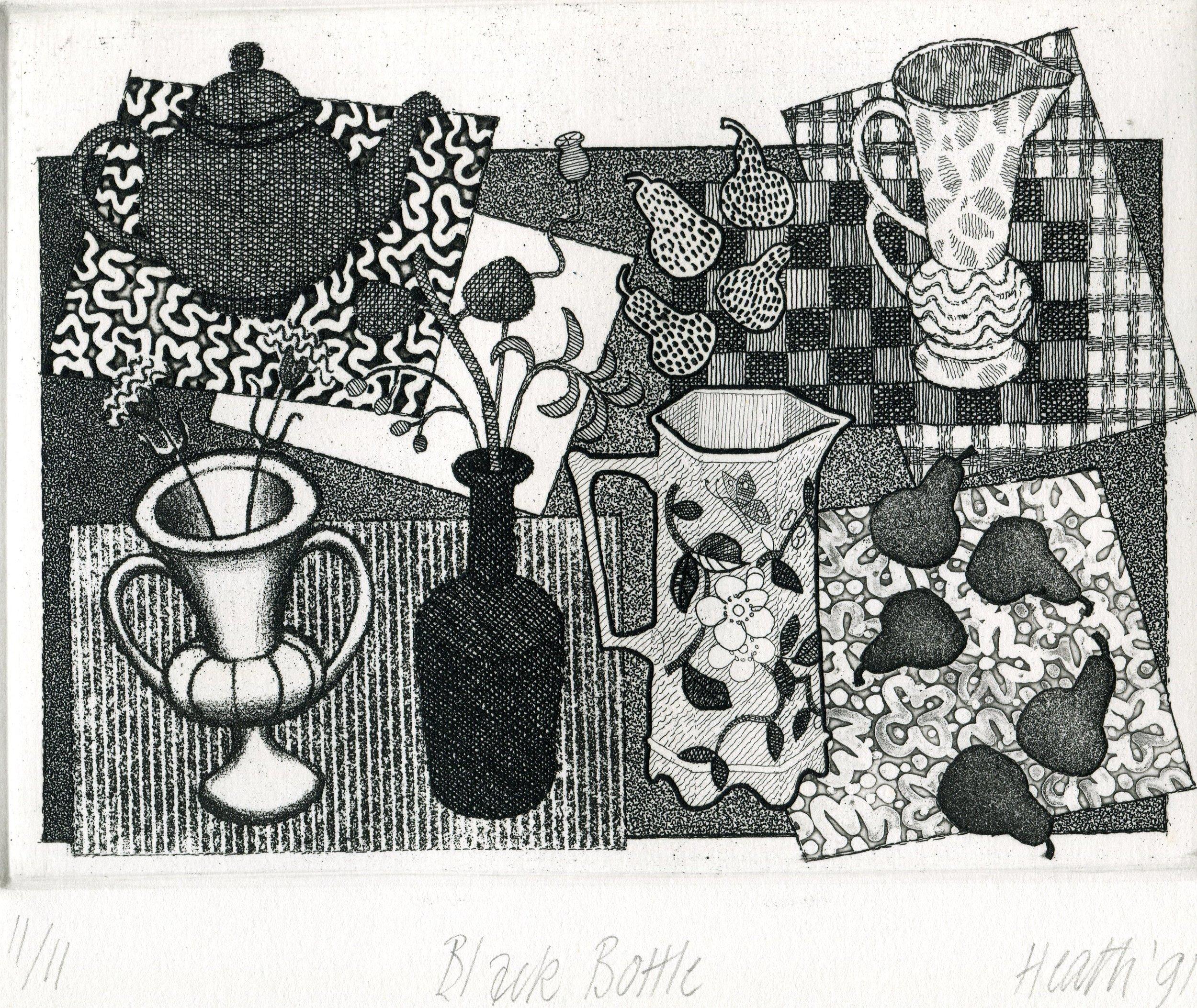 03a  Bronwen Jane Heath  Black Bottle  etching on paper