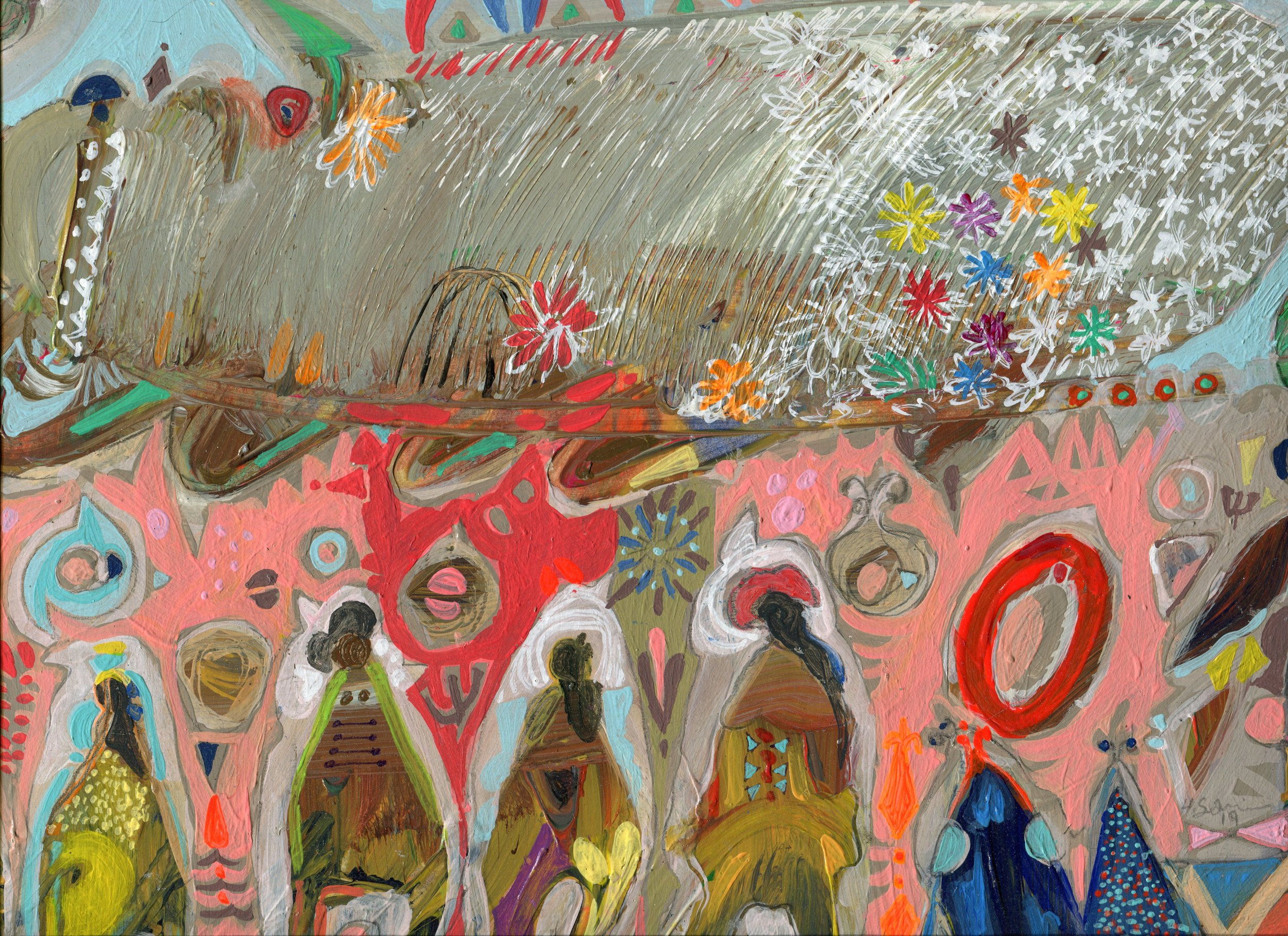 05d  Hussein Salim  Spring 4  acrylic on paper