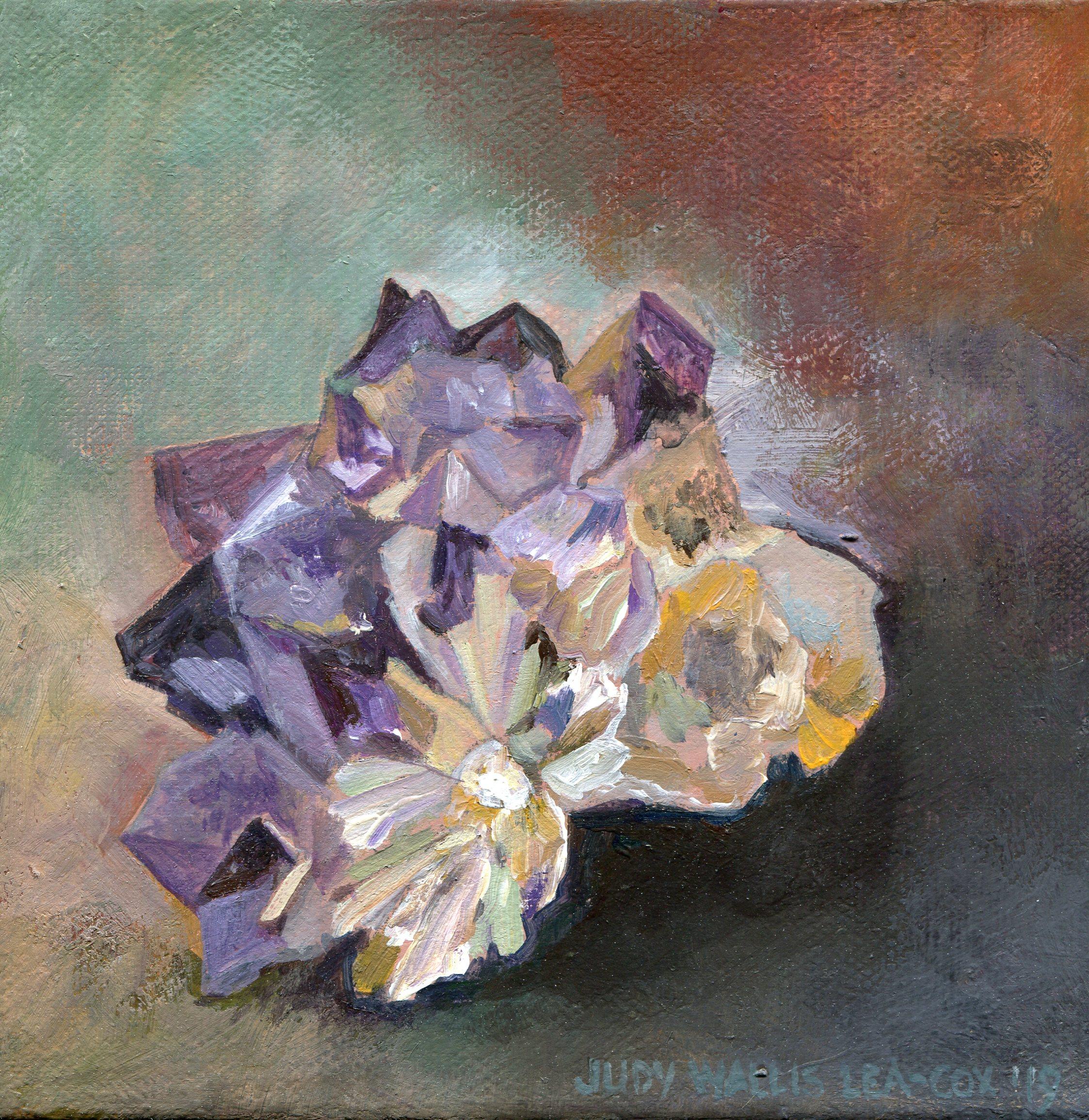 11a  Judy Lea-Cox  Amethyst  acrylic on canvas