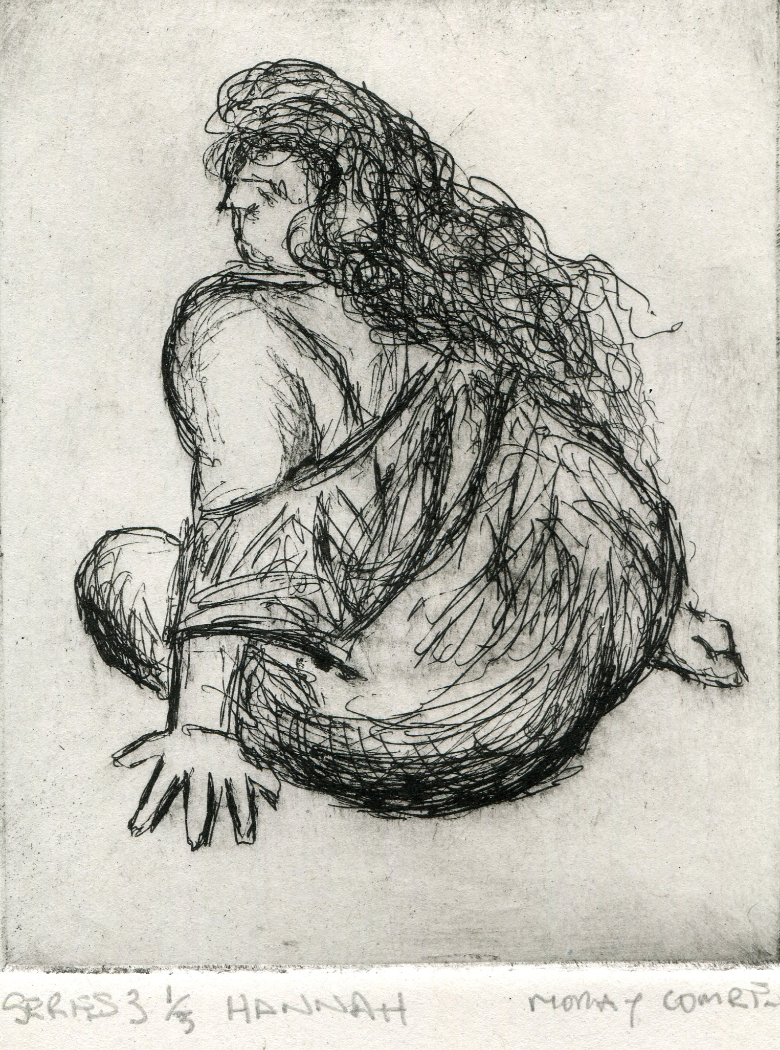 12a  Moray Comrie  Hannah  etching on paper