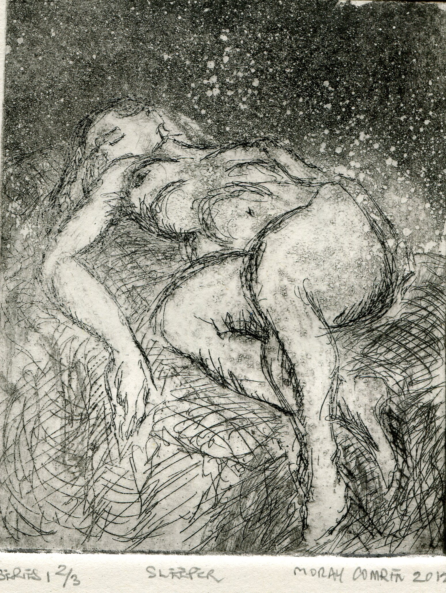 12b  Moray Comrie  Sleeper  etching on paper