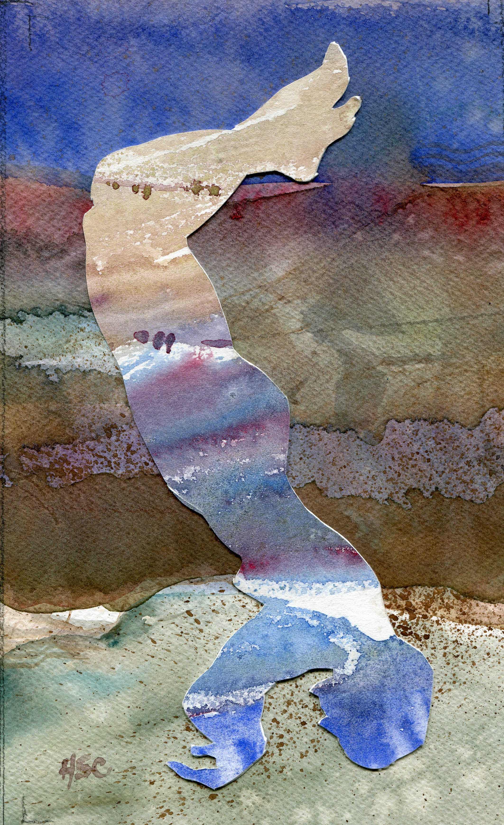15a  Hermine Coleman  Filling  watercolour collage on paper