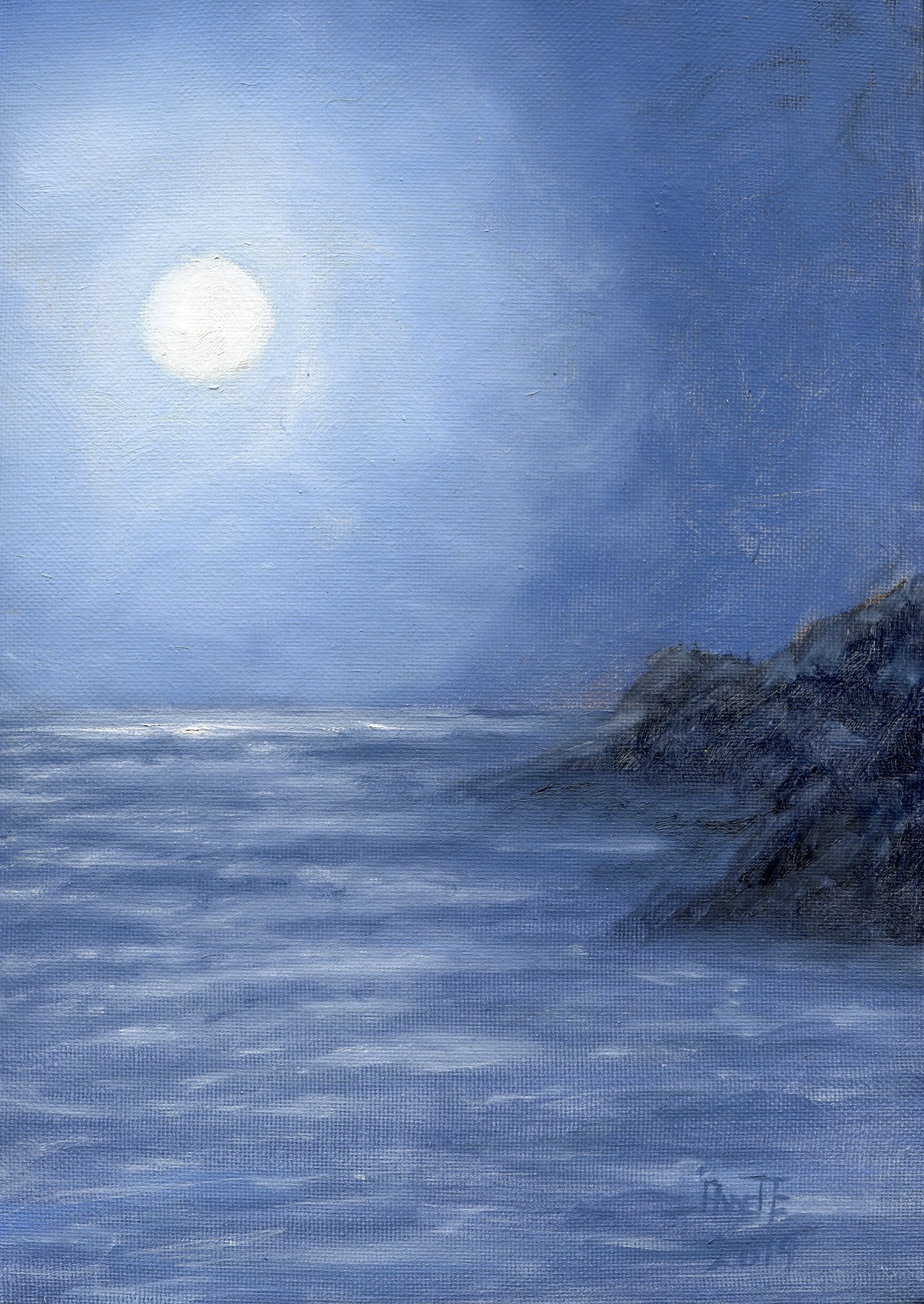 18a  Annette Farland  Moonlight  oil on canvas