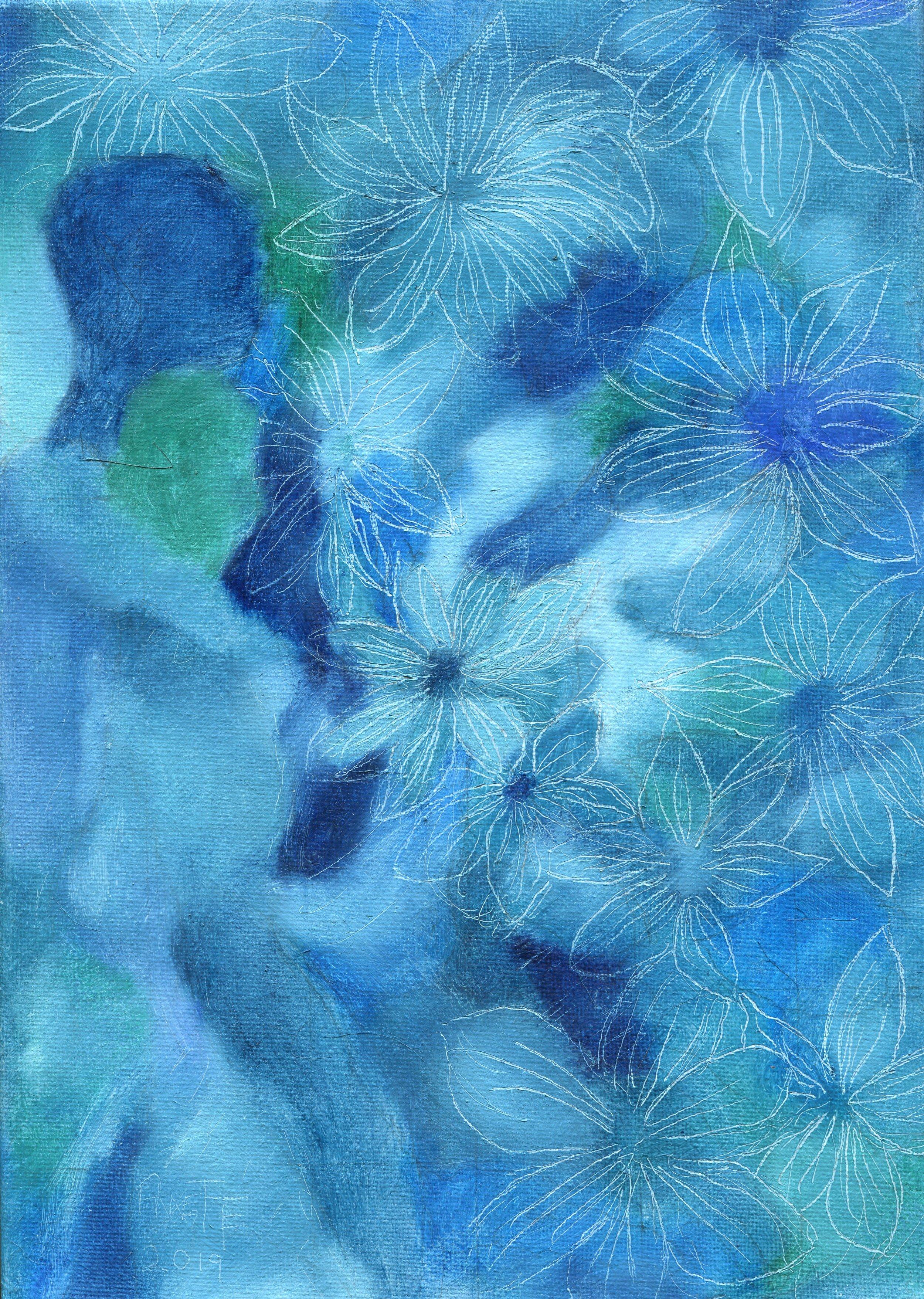 18b  Annette Farland  Rhapsody in blue  oil on canvas