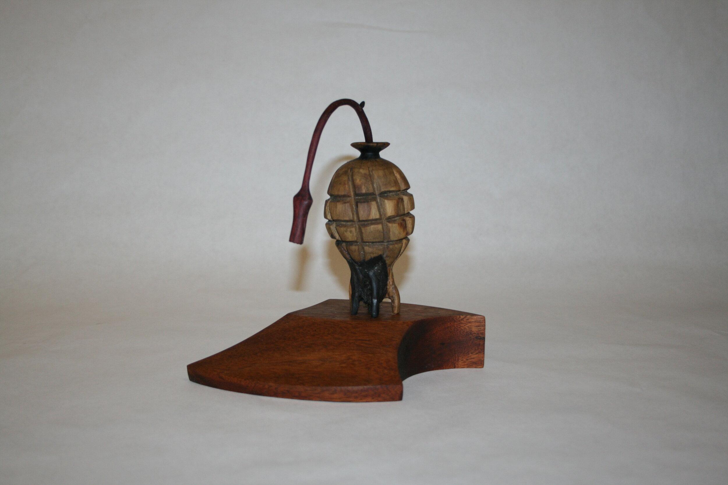 17a  John Soderlund  The family secret  wood sculpture