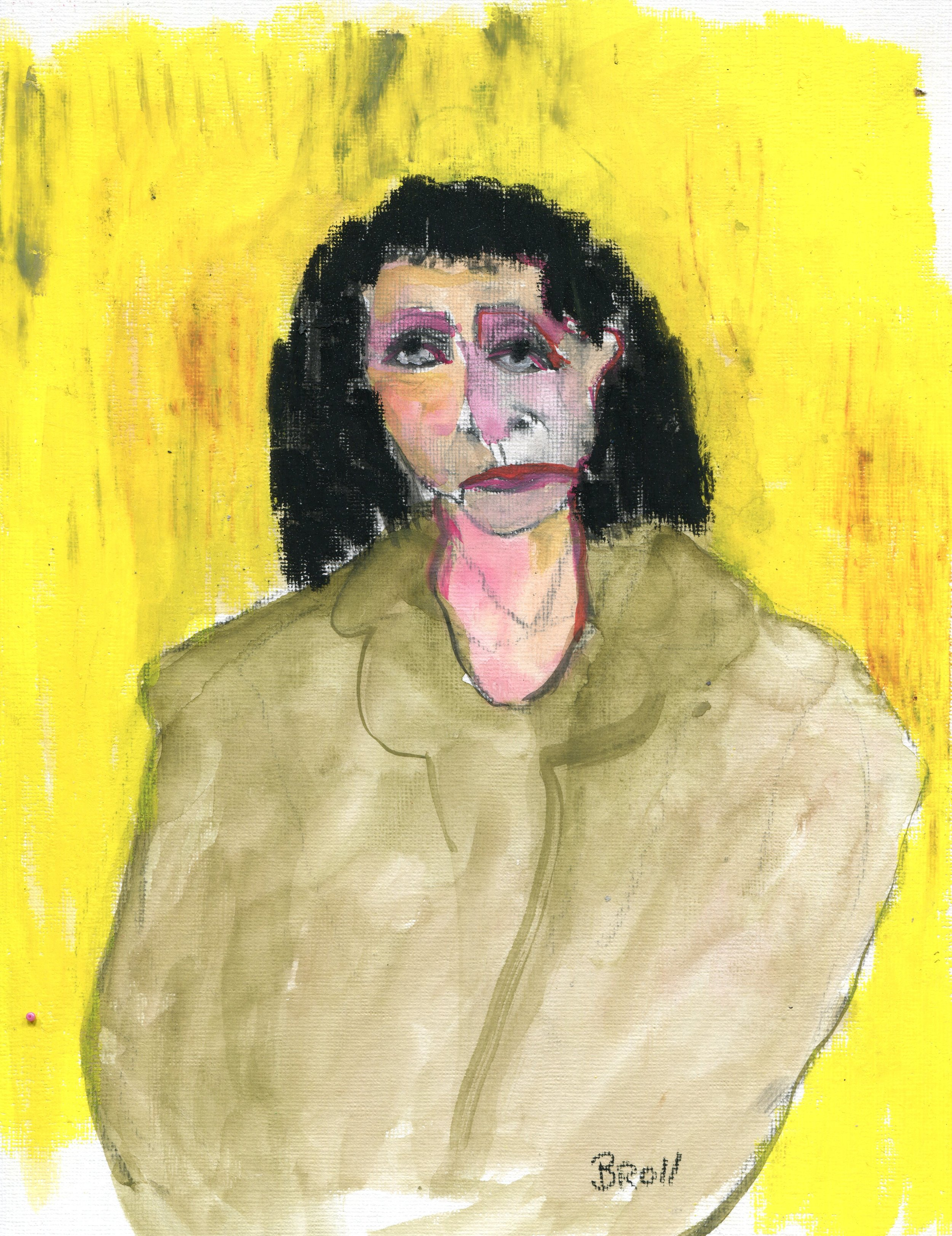 37a  Terri Broll  Sitter  mixed media on canvas paper