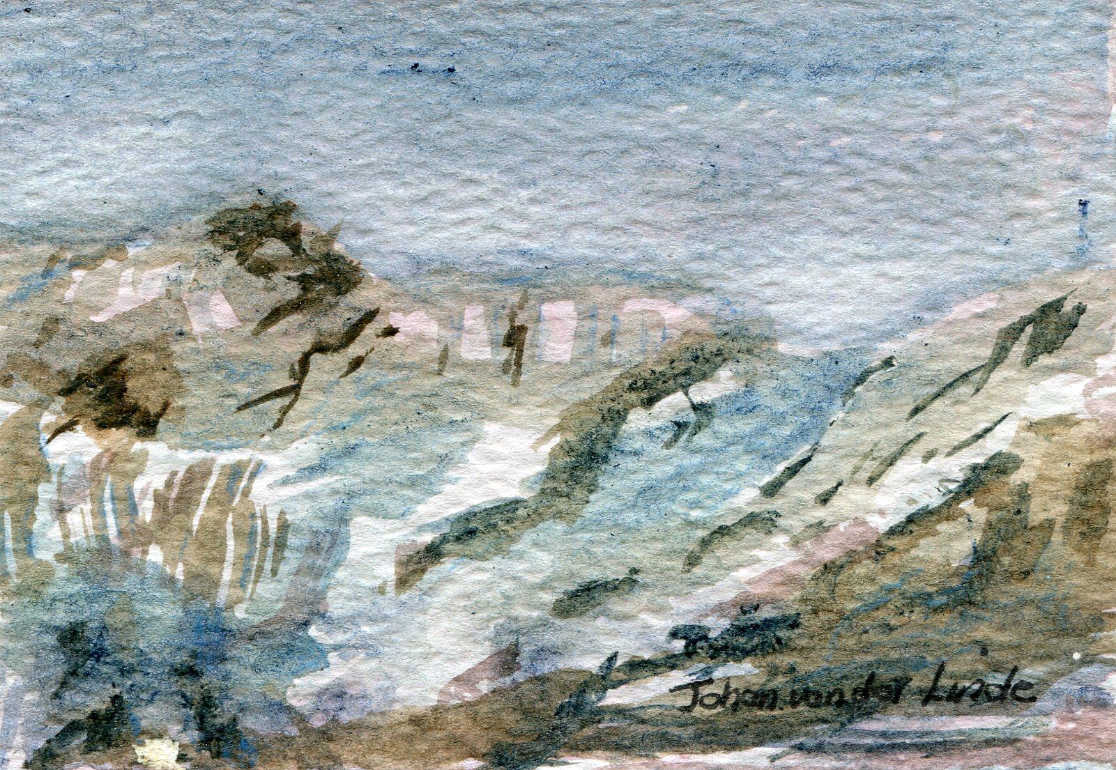 40a  Johan van der Linde  The Berg  watercolour on paper