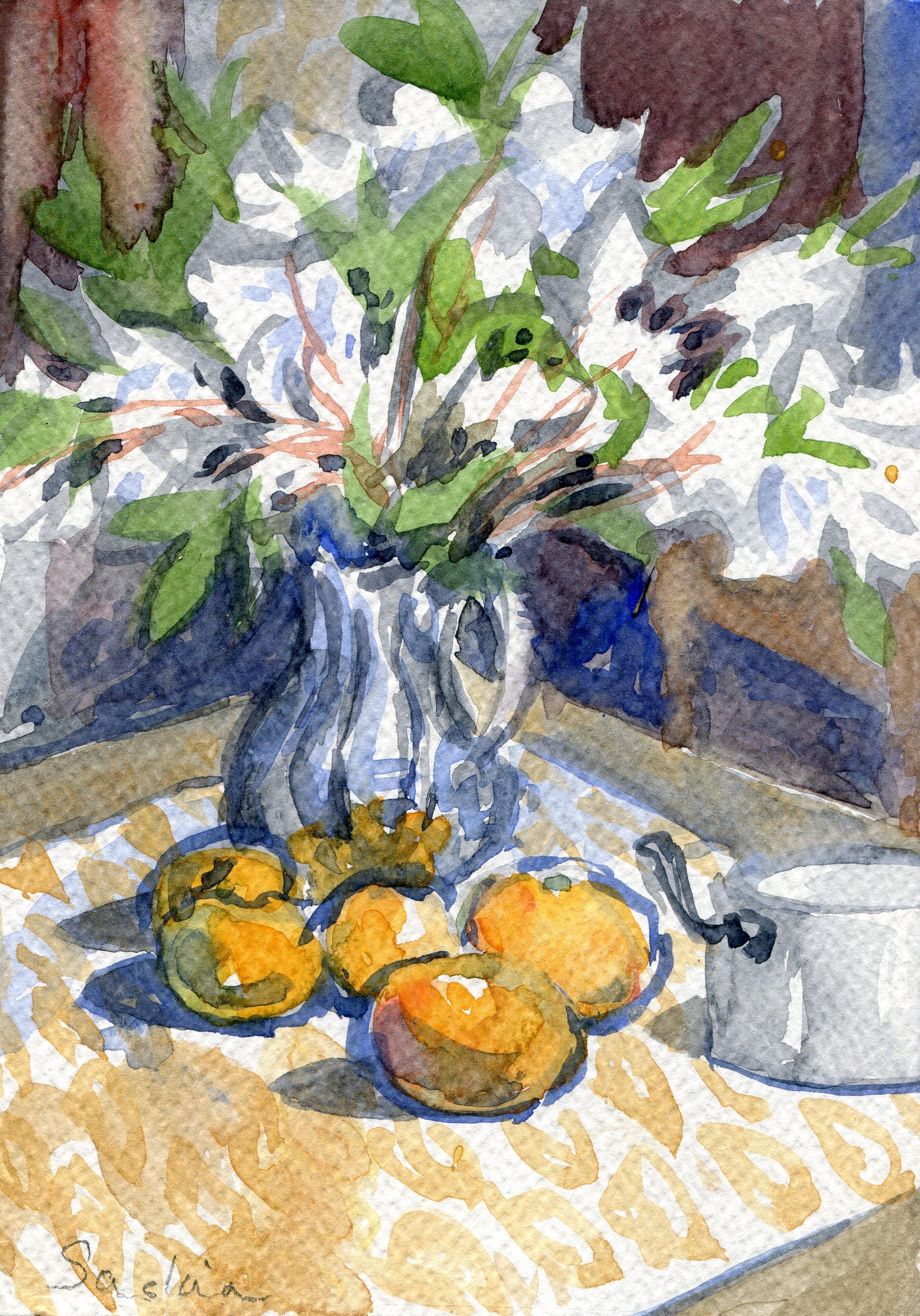 51a  Saskia Osborne  White azaleas  watercolour on paper