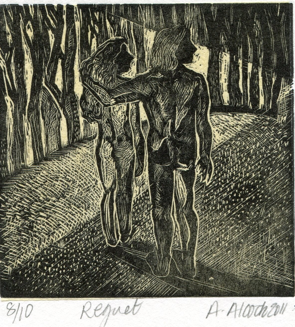 54a  Anna Alcock  Regret  wood engraving on paper