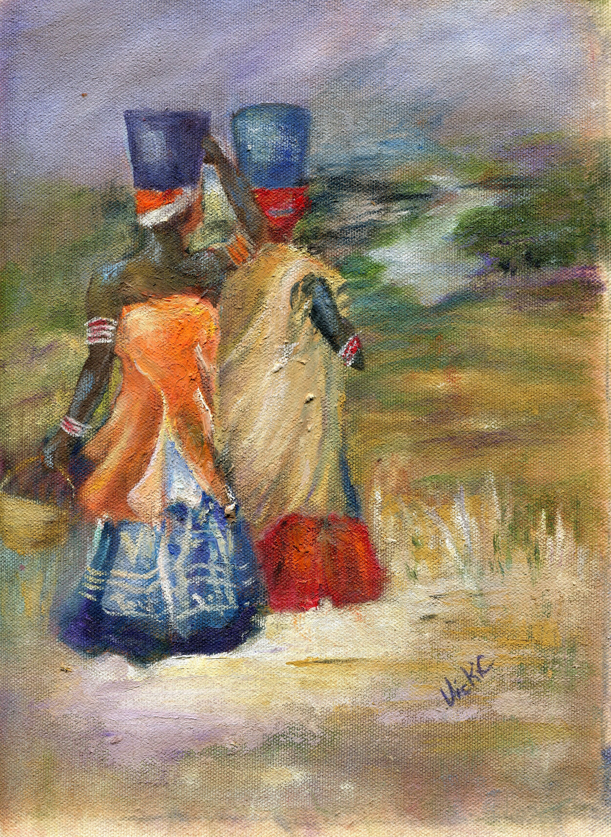 55b  Vicki Cressey  Xhosa colours  oil on canvas