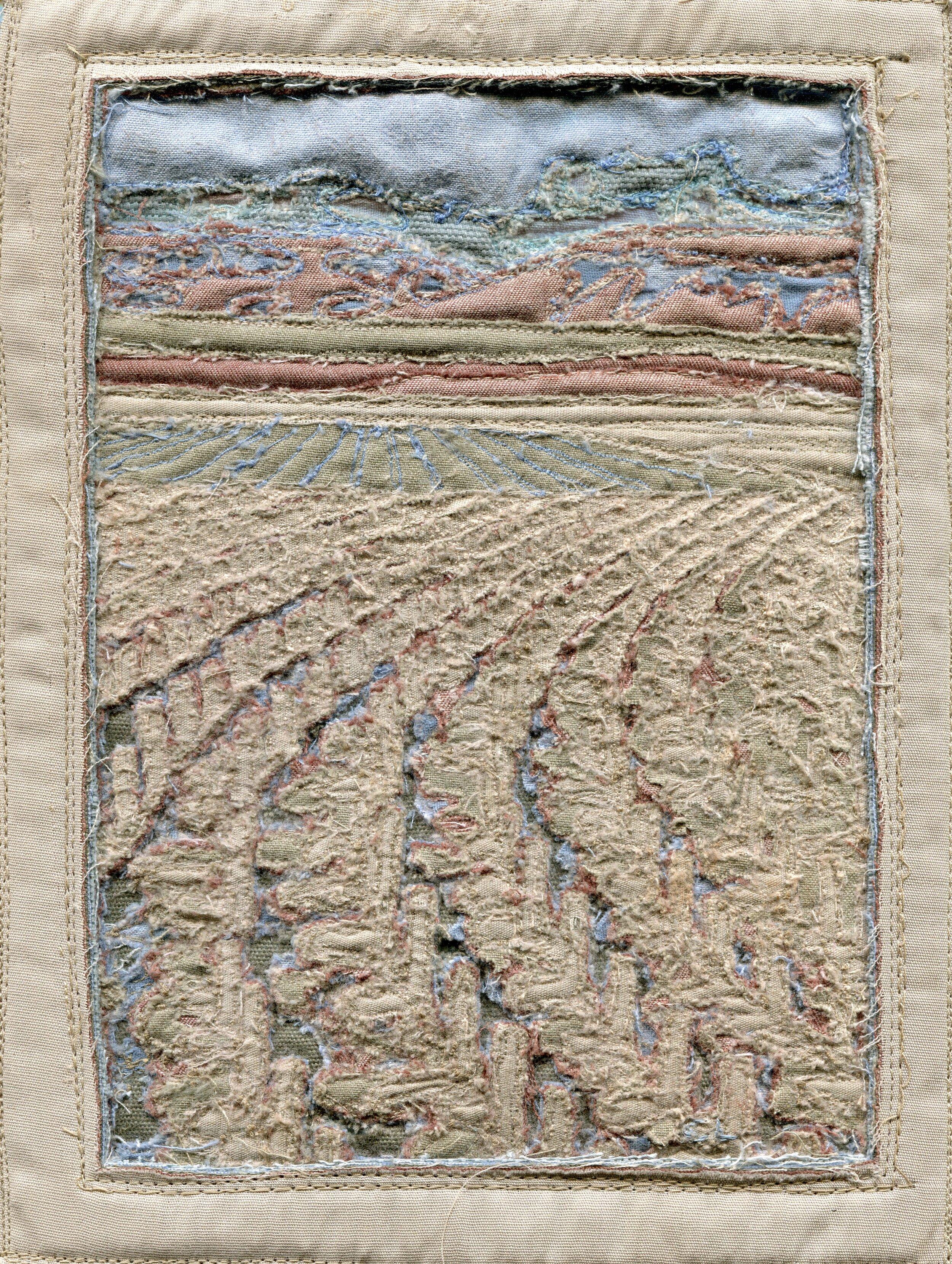 58b  Corina Lemmer  Tientwa Geluksburg 2  free machine embroidery on fabric