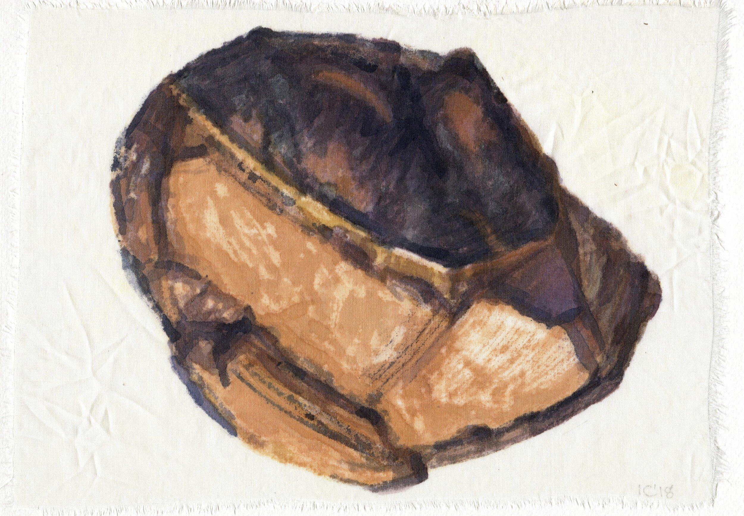 62b  Ian Calder  Fragment series 2  watercolour on viscose
