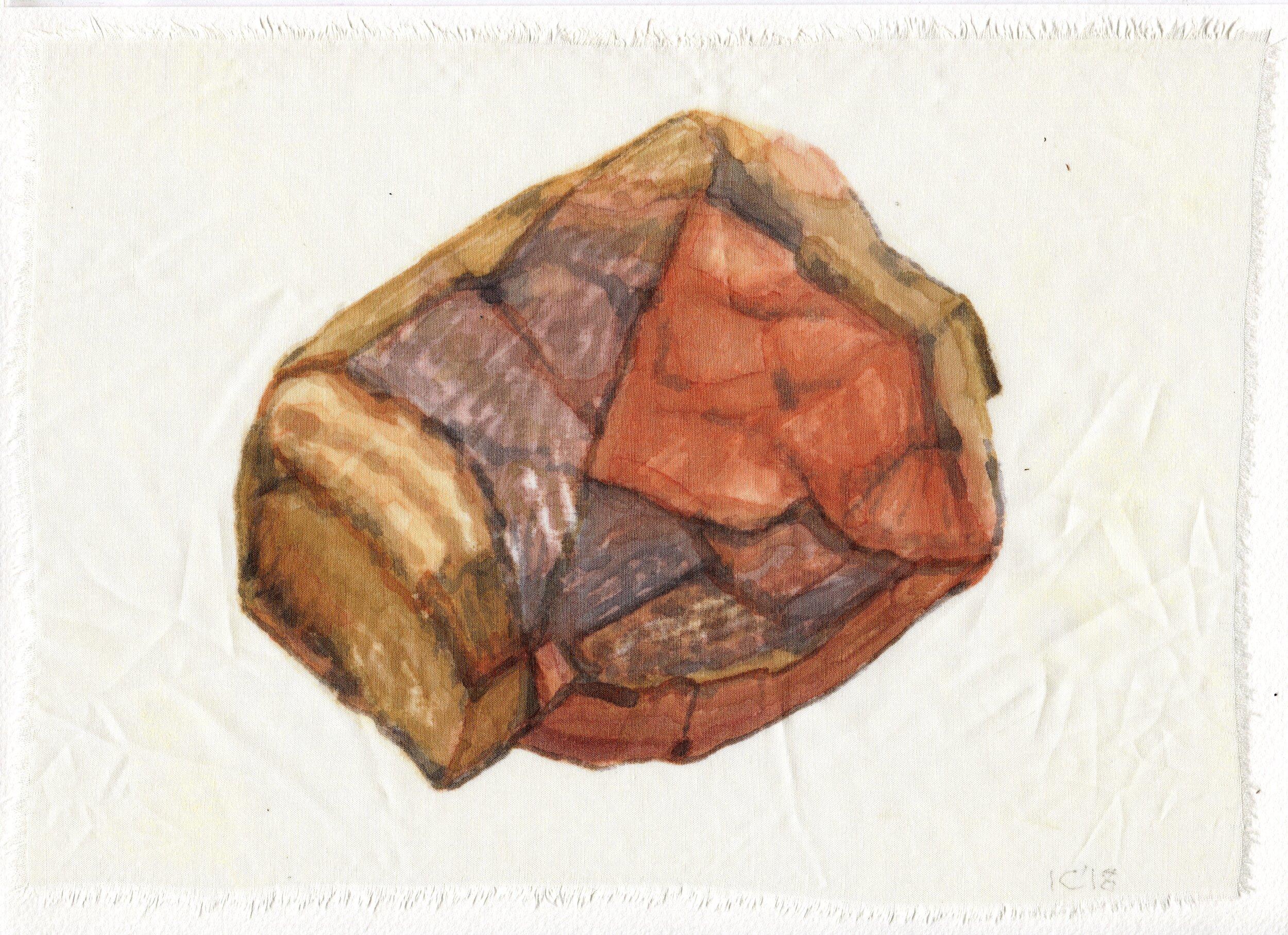 62a  Ian Calder  Fragment series 1  watercolour on viscose