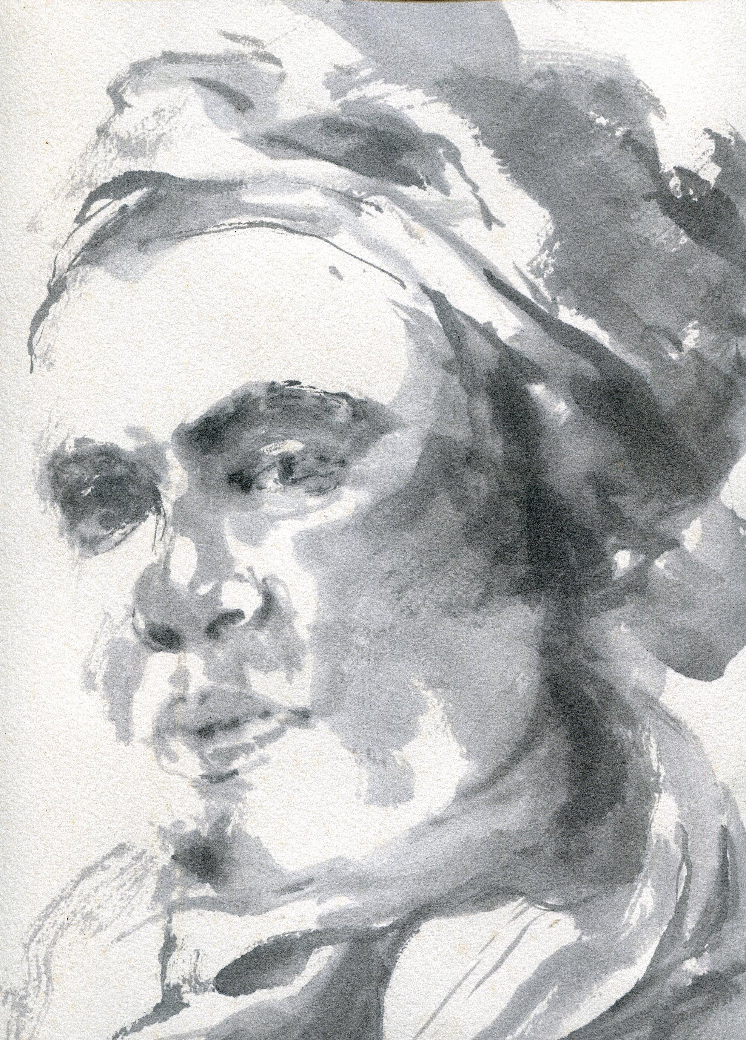 69c  Ingrid Adams  Miriam  ink on paper