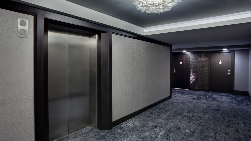 Tower Guestrooms - elevator vestibule and corridor renovation Amway Grand Plaza Hotel