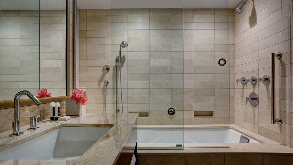 Tower Club - luxury suite spa bathroom Amway Grand Plaza Hotel