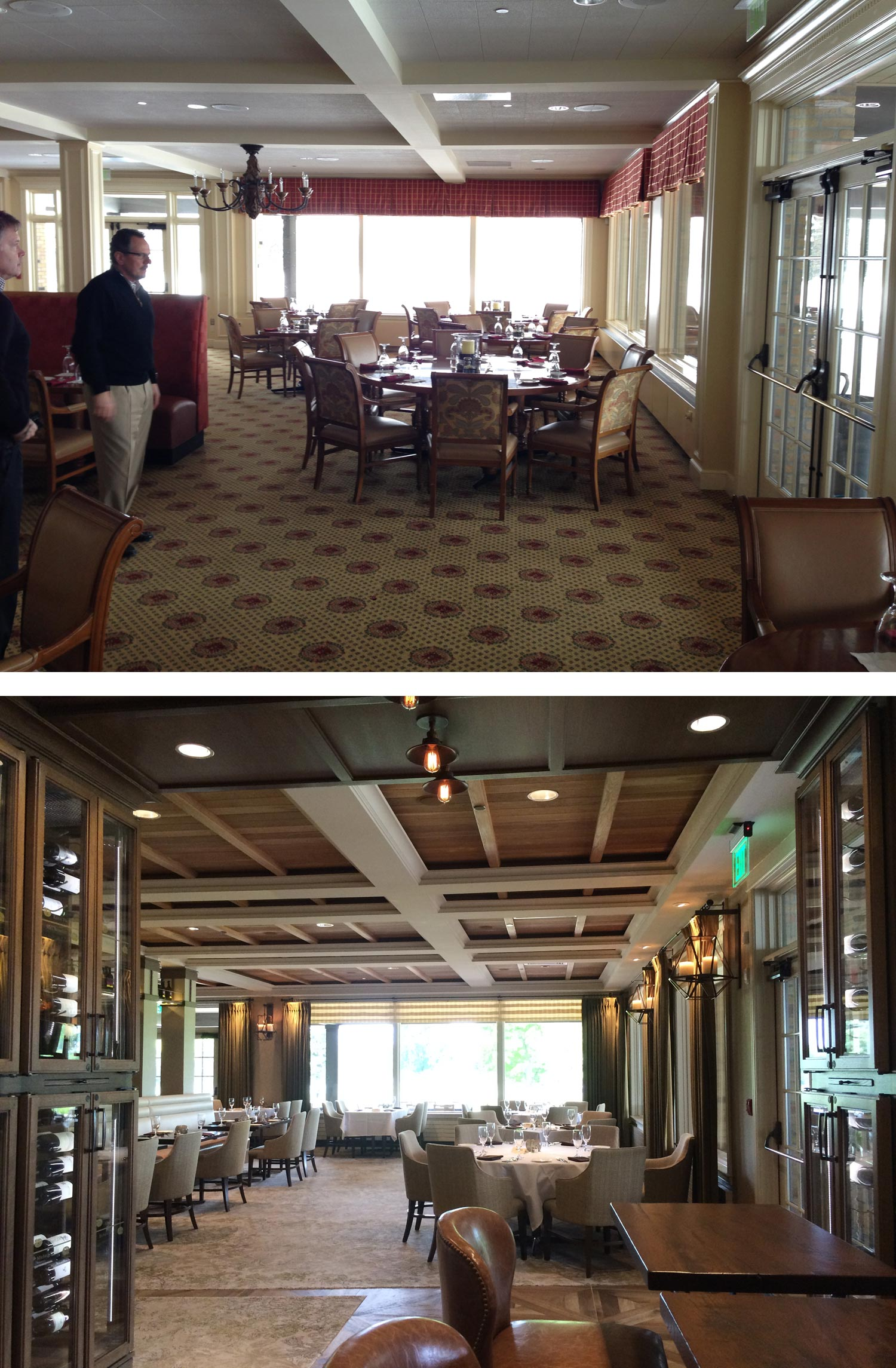 CHCC - dining room before/after