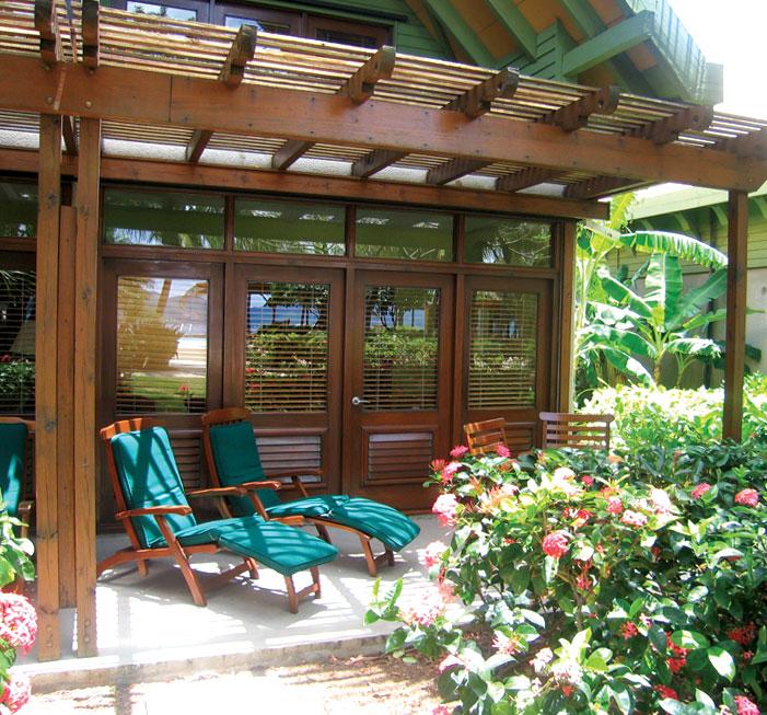 Oceanview room terrace
