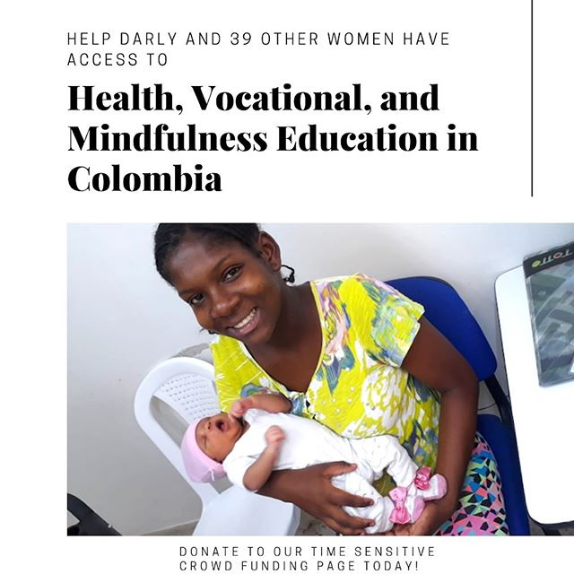 The @globalgiving accelerator starts today! You can donate to our page, link in bio! Darly is a displaced young woman who currently sells candy on the streets of Cali to support her newborn baby. Help us support 39 other pregnant adolescents like Darly in Cali, Colombia by providing permanent health, vocational, and mindfulness training at a rural health clinic. This health clinic has reported a high number of pregnant adolescents being malnourished. You can help address this issue by helping us empower these women to take control of their lives. This project is open to donations until Sept. 27th, give now to be a part of Darly's flourishing 🌺✨ #globalgiving  #empoweringwomen  #donate