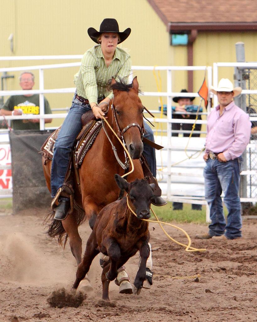 Cowgirl Breakaway Roping