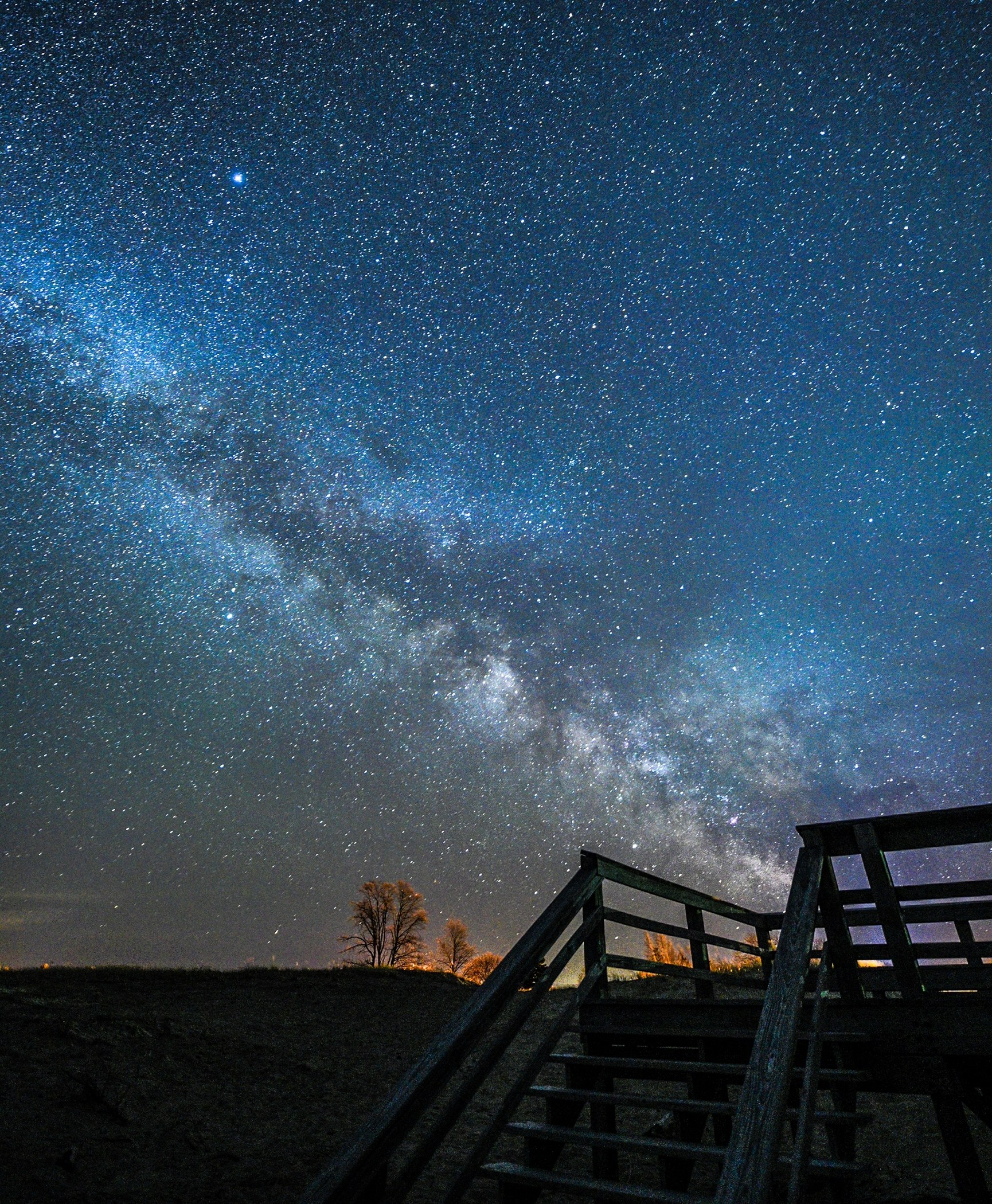 1st place - Agate Beach with the MilkyWay~Geri Laehn - Wehr Nature Center