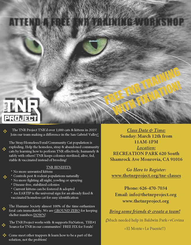 The TNR Project TNR Class