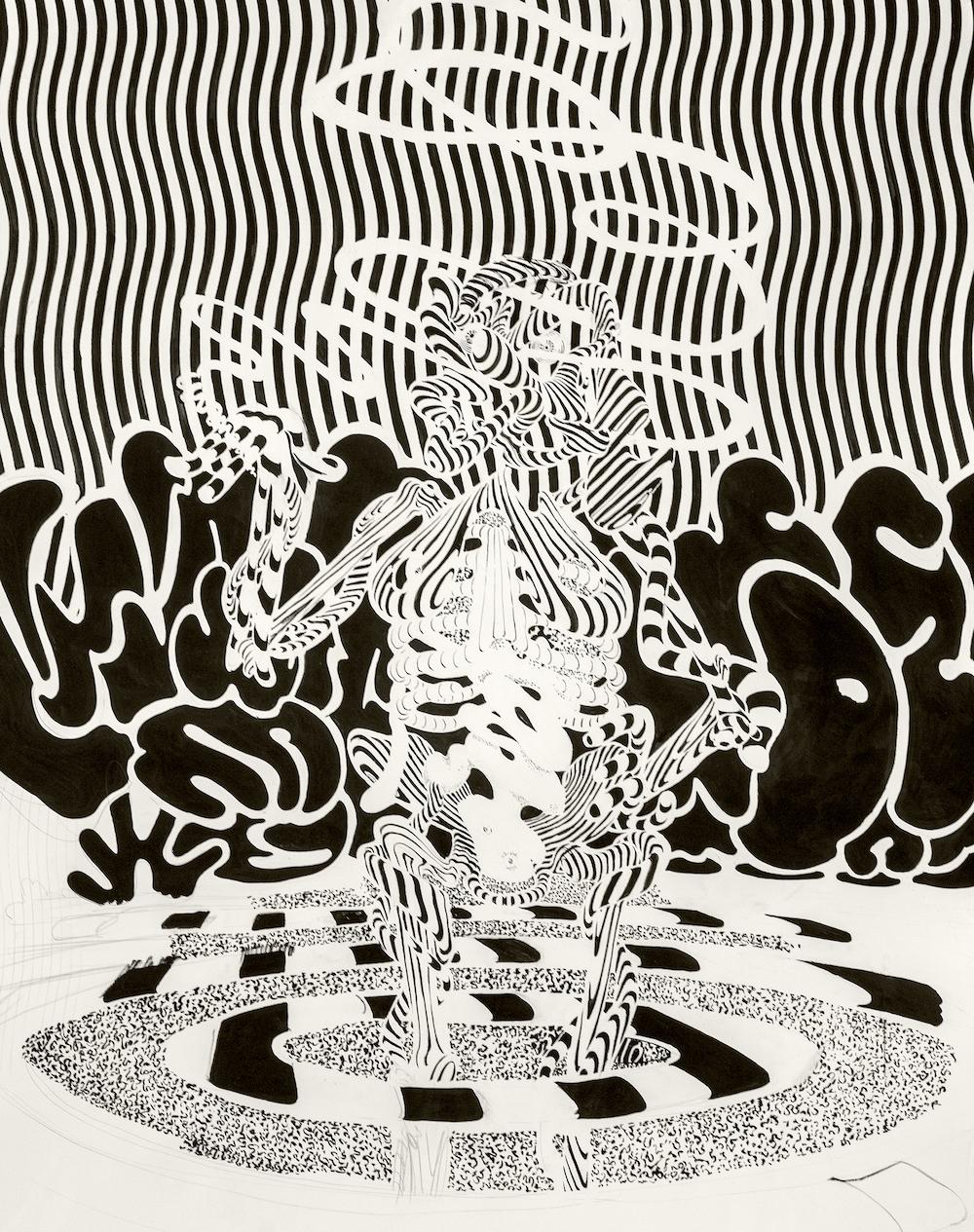 Larry Bob Phillips (Smoking Bather) 2015. Ink on paper. 44%22 x 67%22.jpg