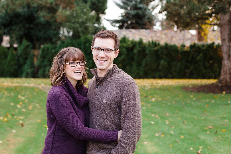 husband and wife enjoying the fall weather