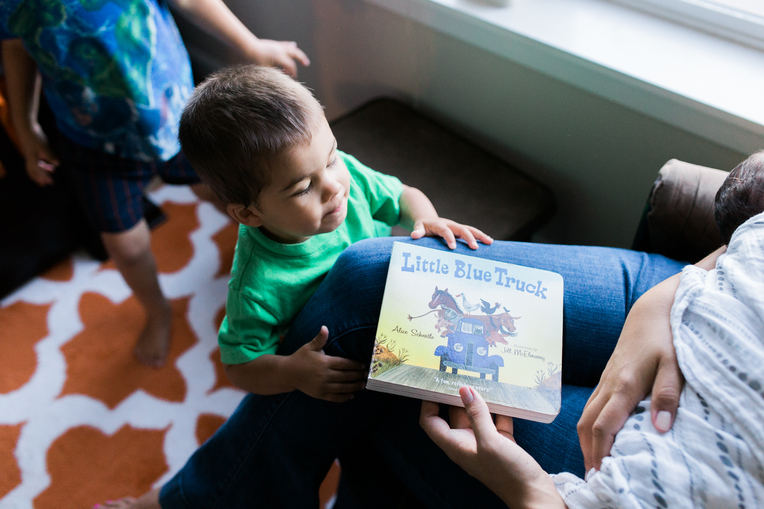 bedtime stories with a family of boys