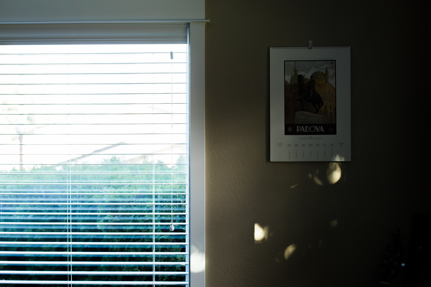 setting sun on a dining room table