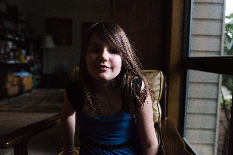 beautiful girl birthday party portrait
