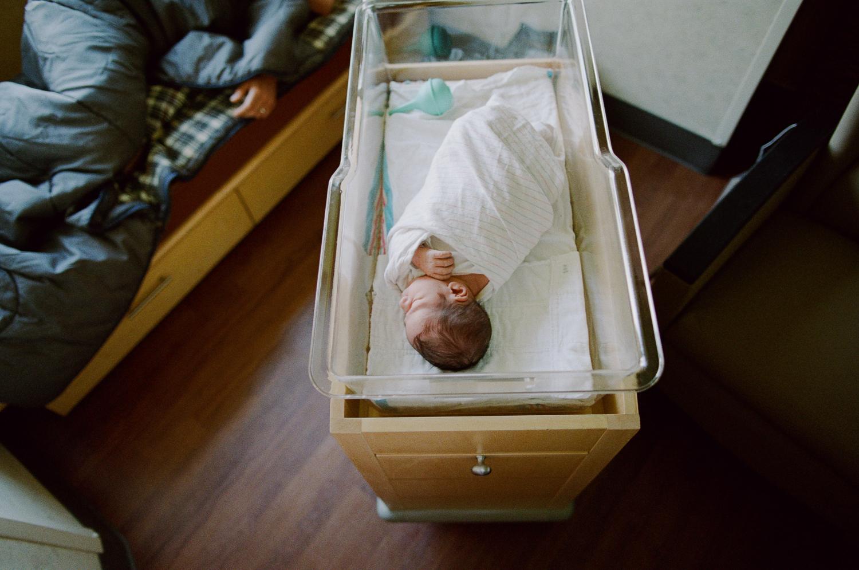 baby boy just born at hospital