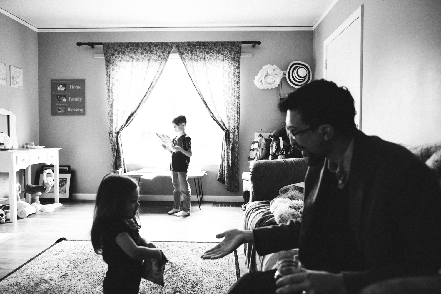 dad giving daughter a high-five