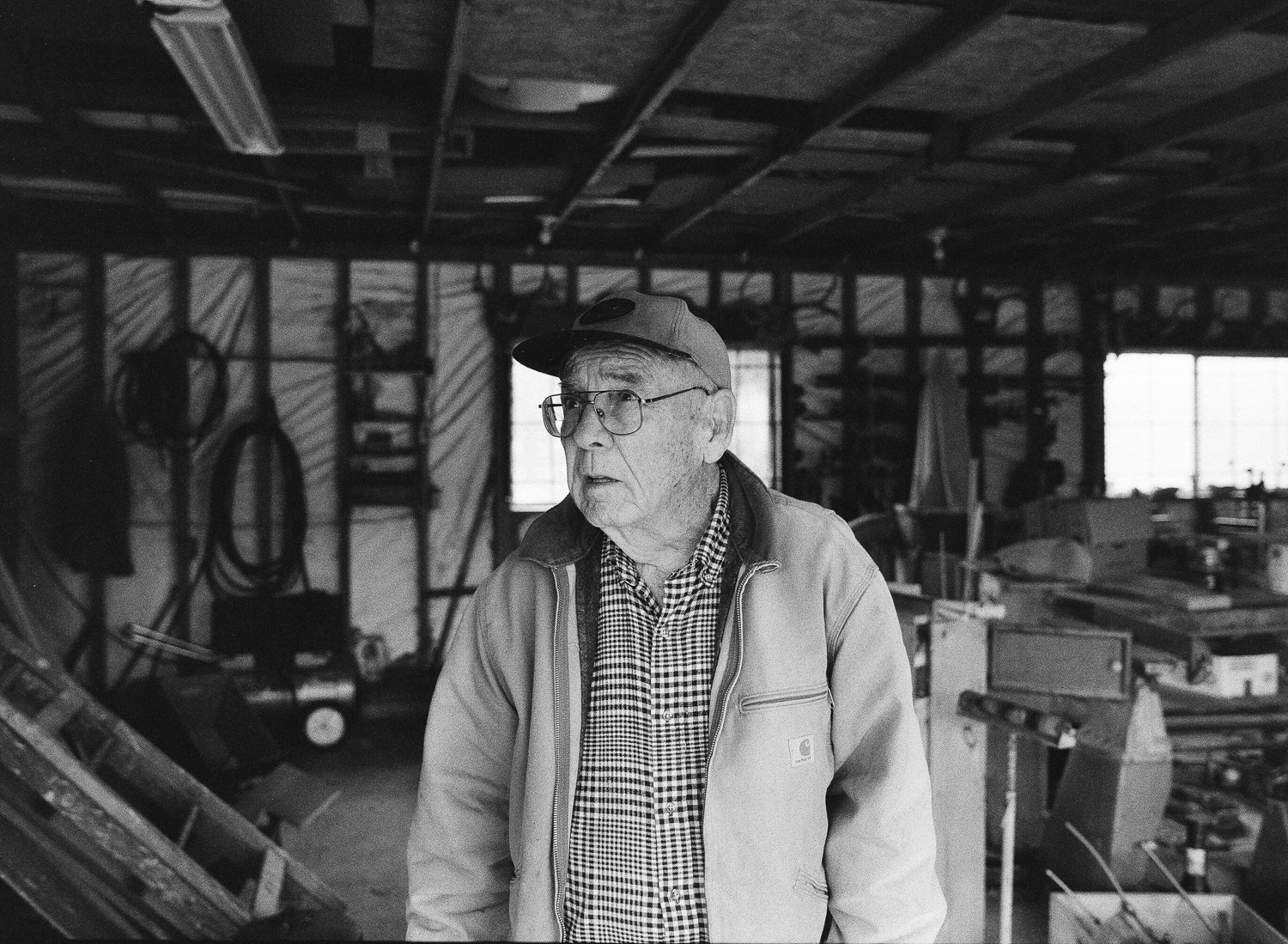 Portrait of grandpa in his work jacket