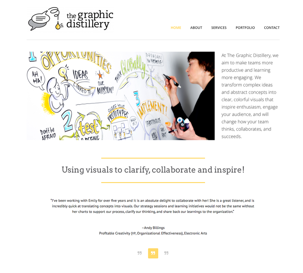 The Graphic Distillery Website