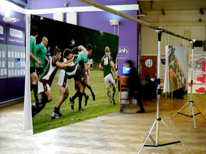 Leeds Rugby photo featured at Leeds University, 2009.