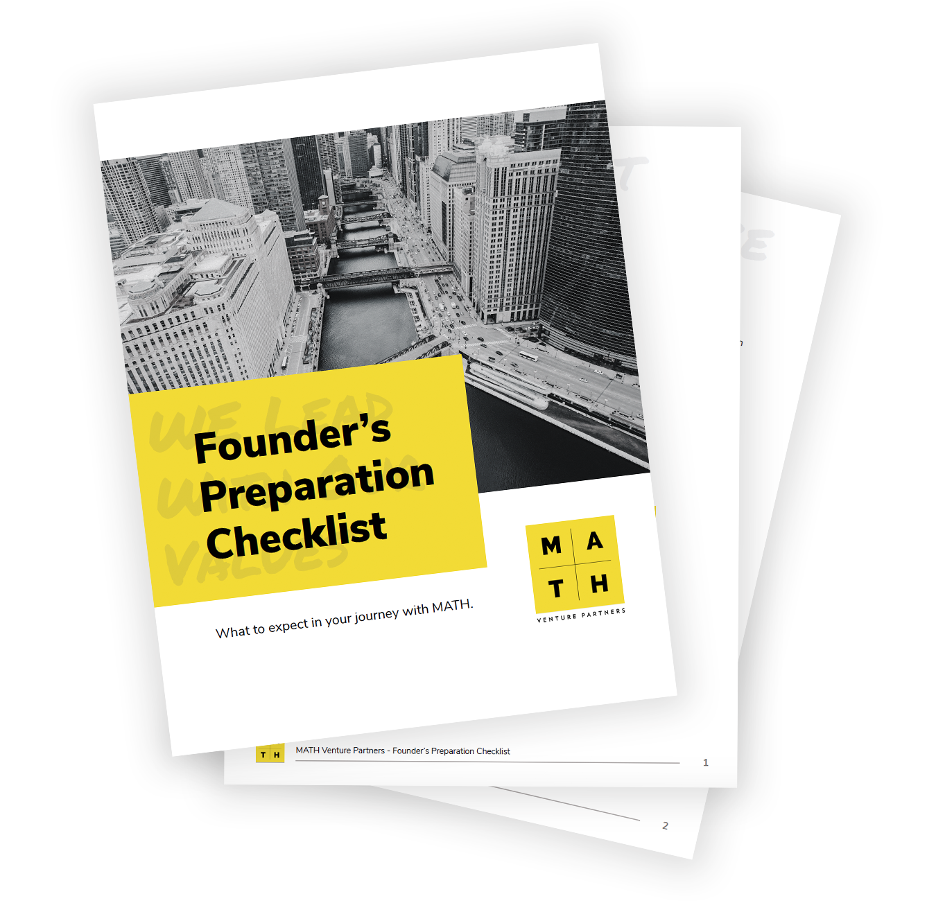 Founder's Preparation Checklist - What to expect in your journey with MATH.