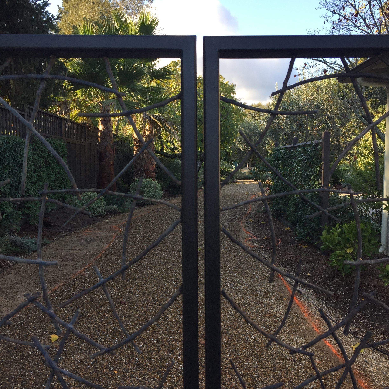Cast bronze gates