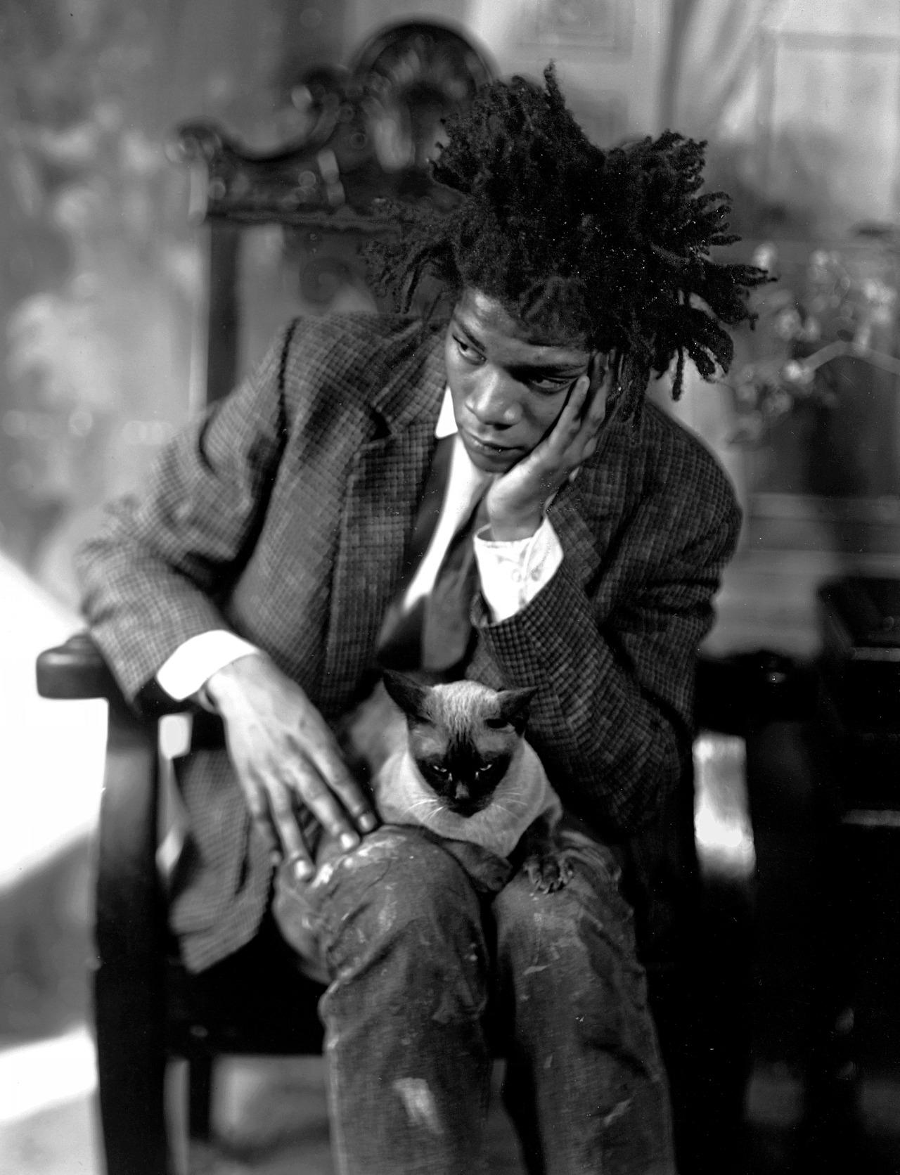 jean-michel basquiat WITH CAT