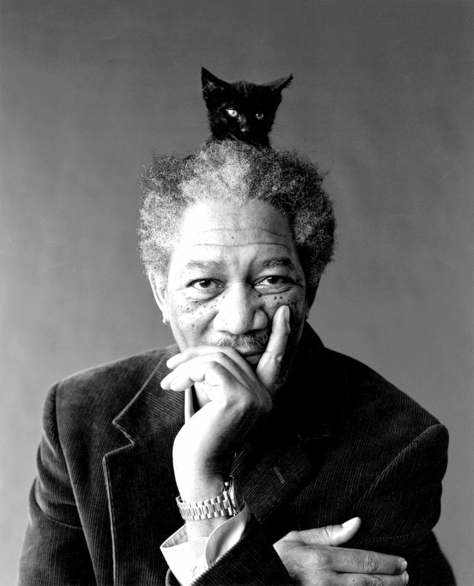 morgan with cat
